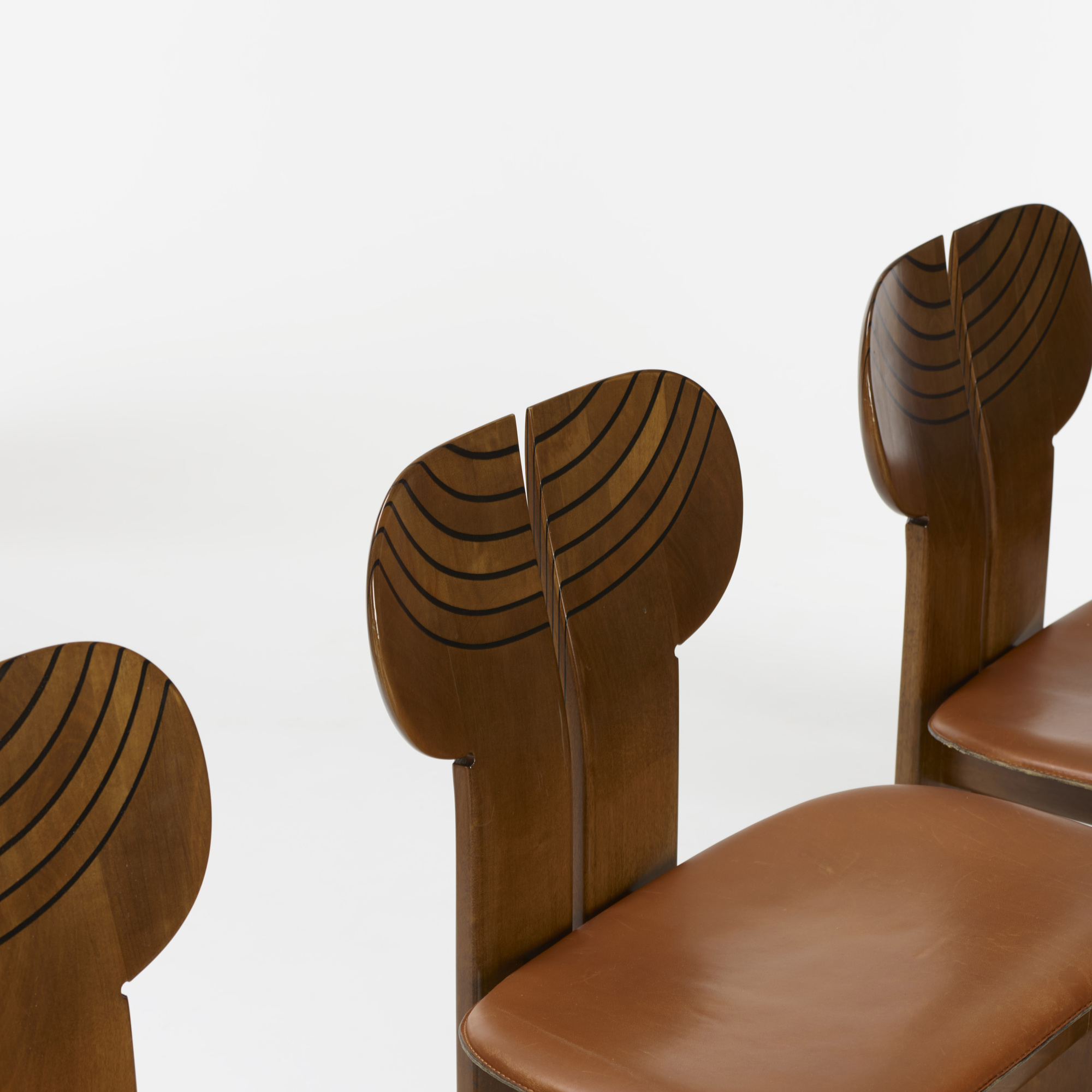 227: Afra and Tobia Scarpa / set of ten Africa chairs from the Artona series (3 of 4)