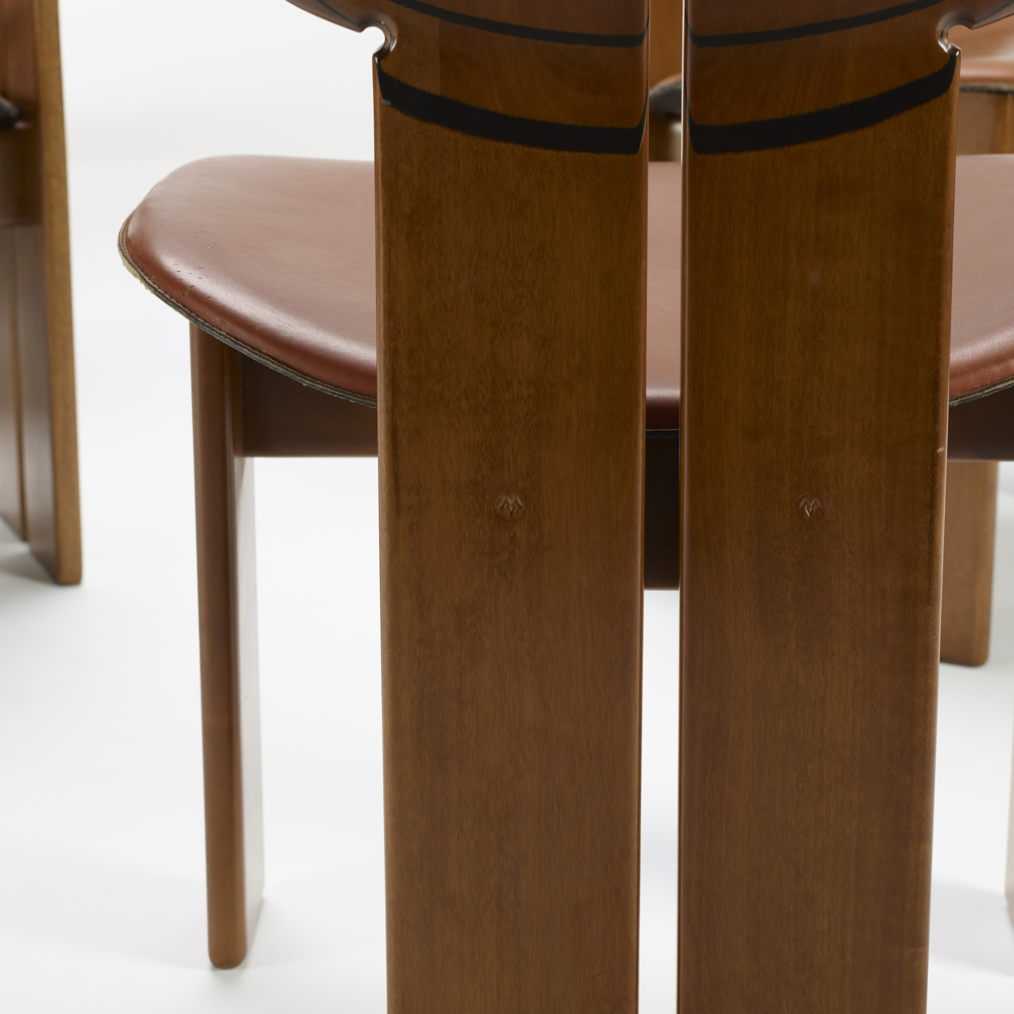 227: Afra and Tobia Scarpa / set of ten Africa chairs from the Artona series (4 of 4)