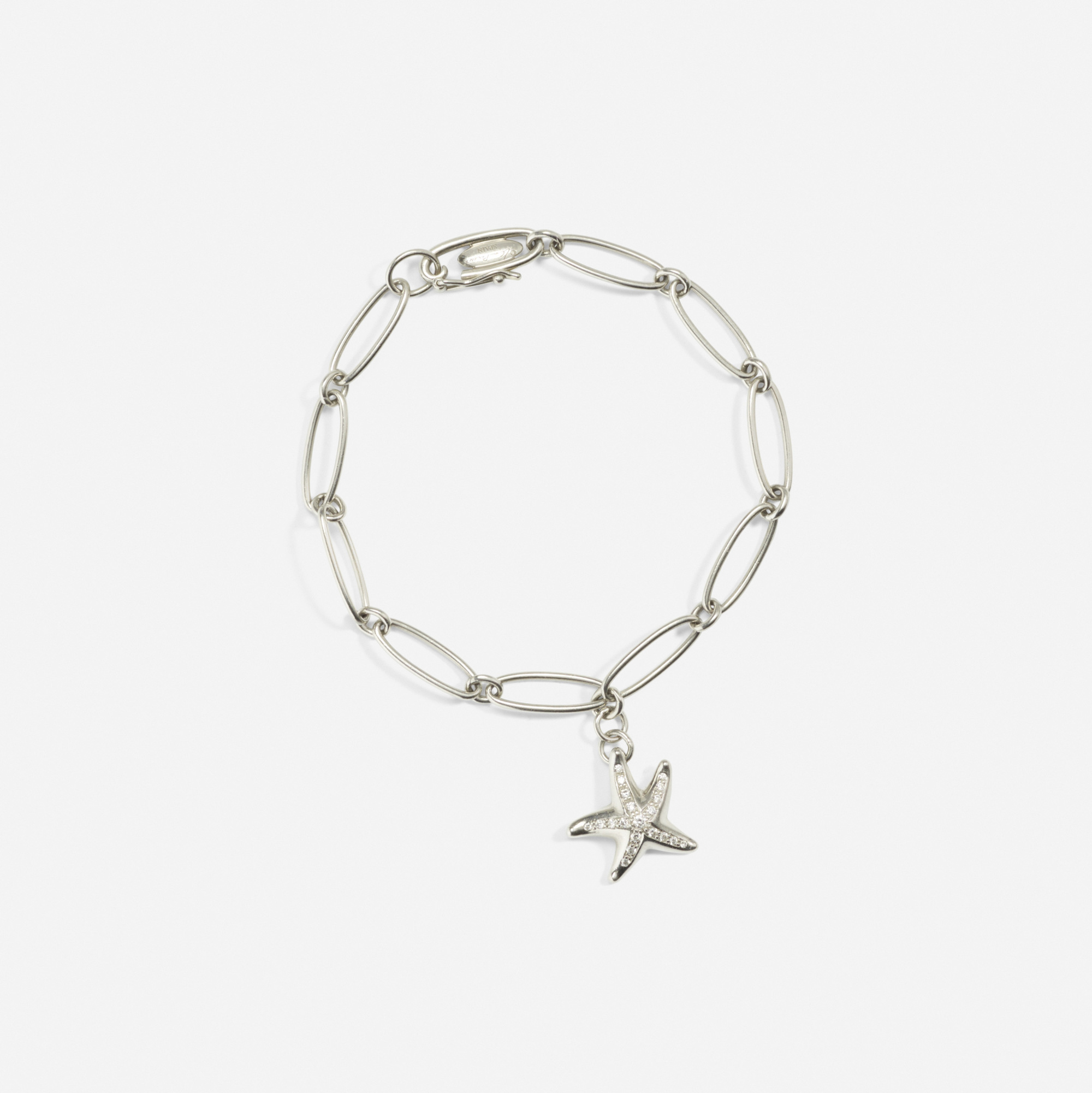 228: Tiffany & Co. / A platinum and diamond bracelet (1 of 2)