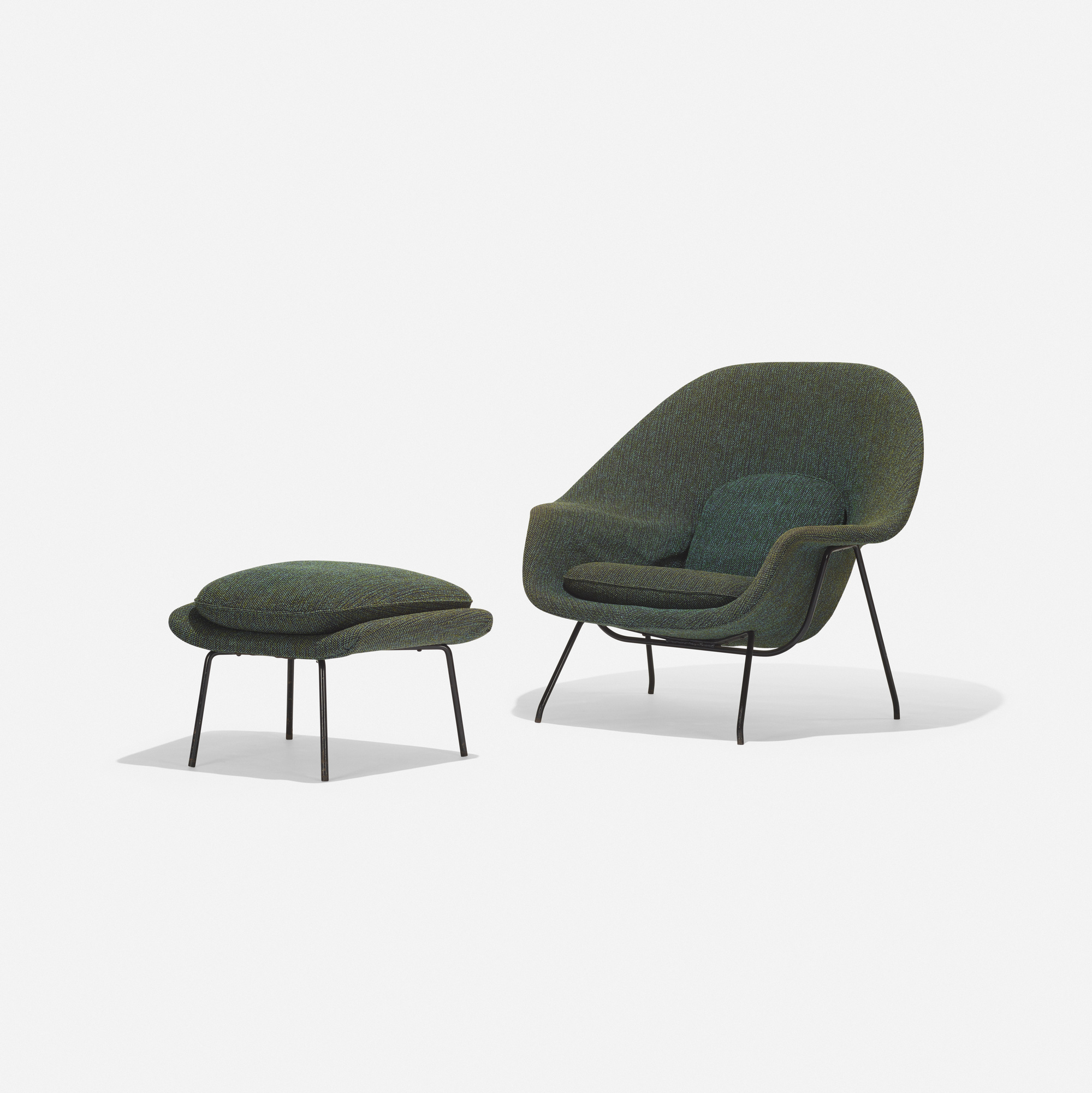 229 eero saarinen womb chair and ottoman 1 of 3