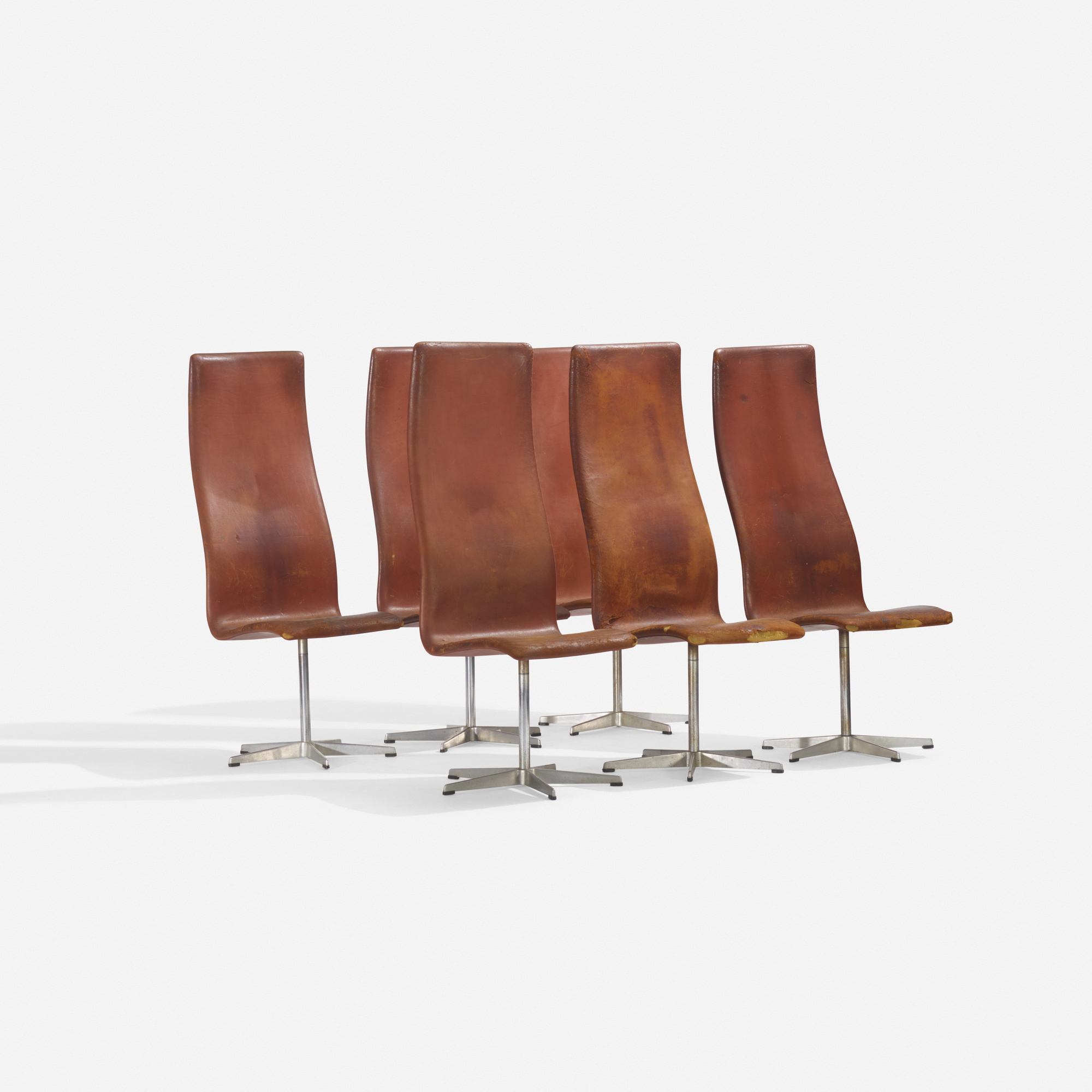 230: Arne Jacobsen / Oxford chairs model 7403, set of six (1 of 3)