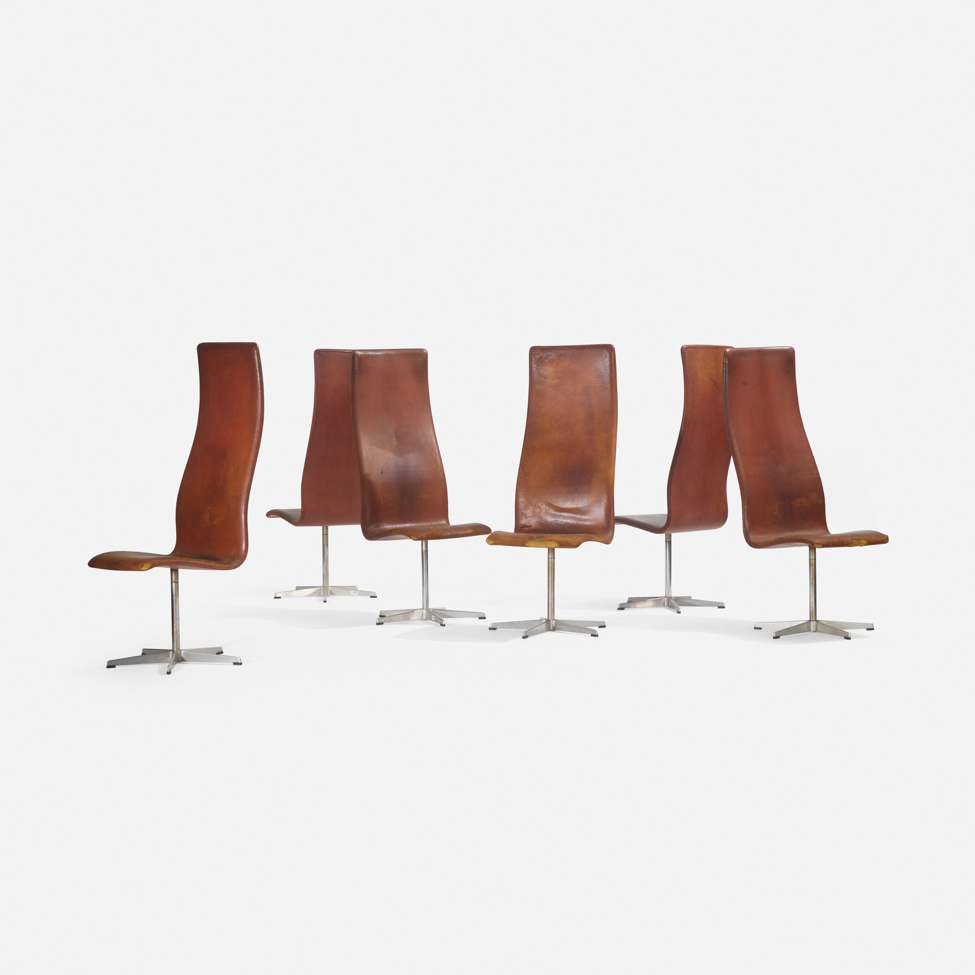 230: Arne Jacobsen / Oxford chairs model 7403, set of six (2 of 3)