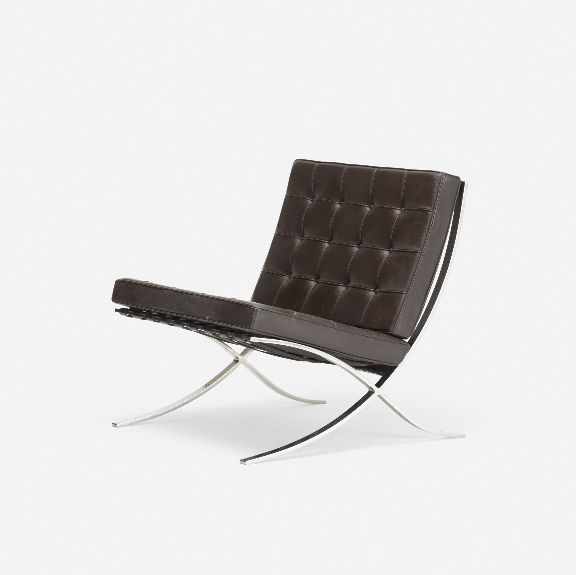 230: Ludwig Mies van der Rohe / pair of Barcelona chairs and ottoman (3 of 3)