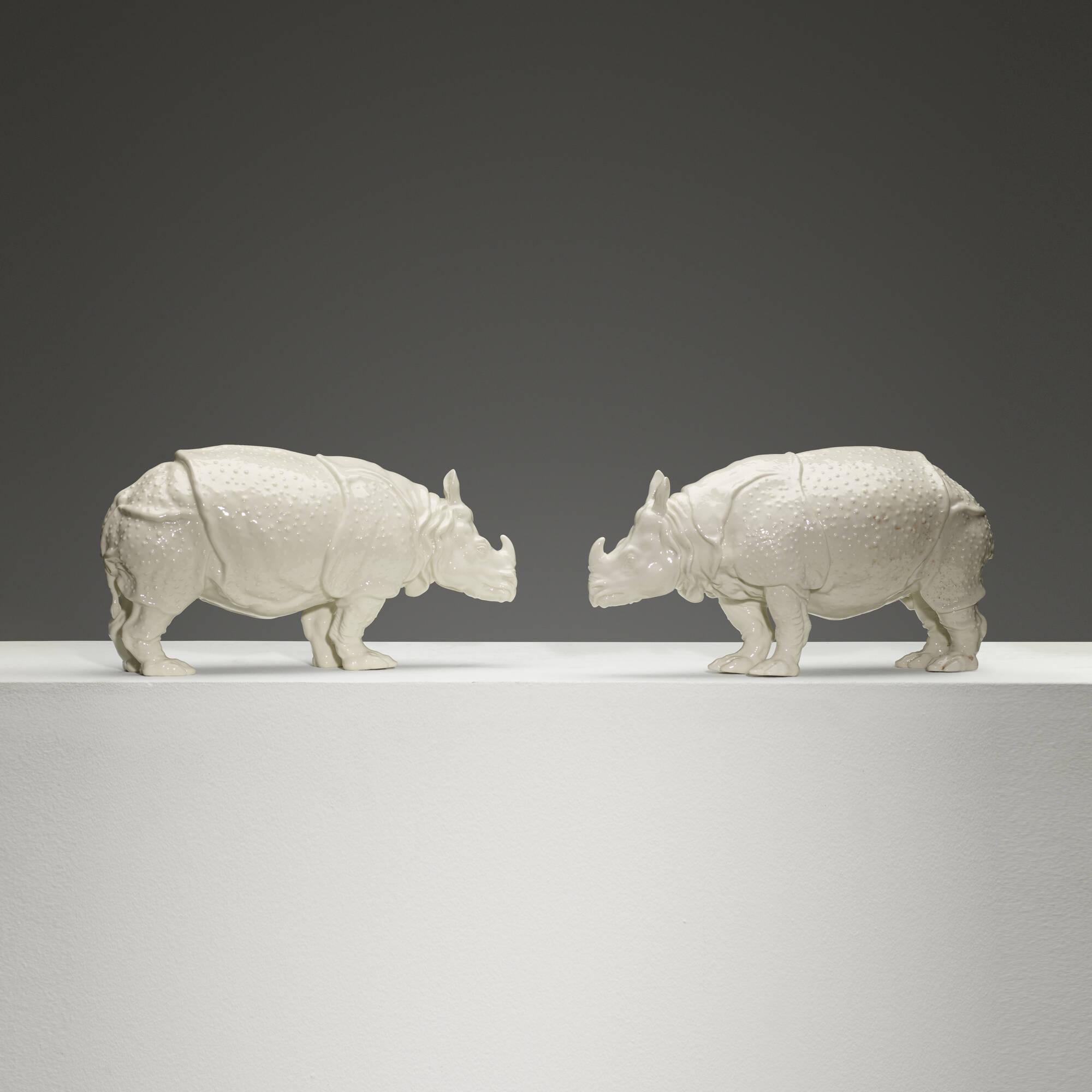 231: Nymphenburg / Clara Rhinoceros, pair (1 of 3)