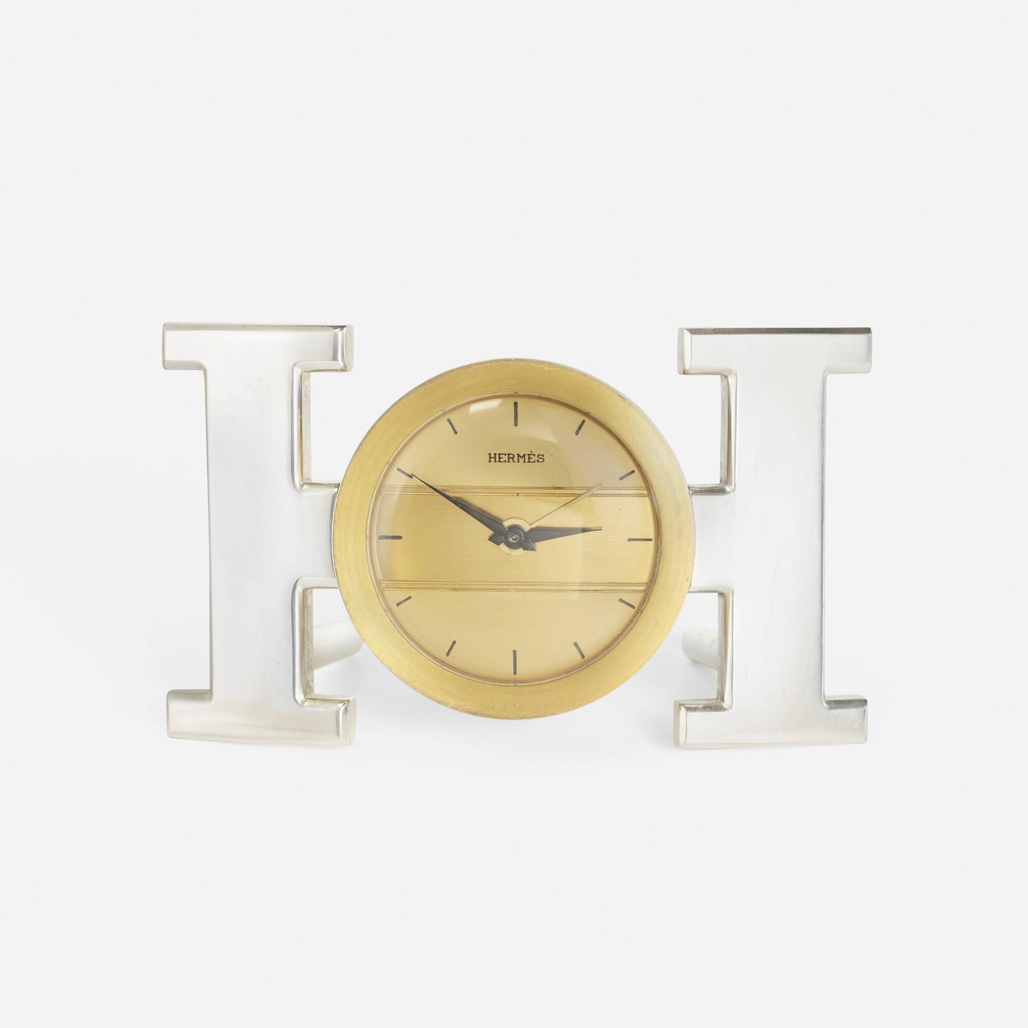 231: Hermès / An H table clock (1 of 1)