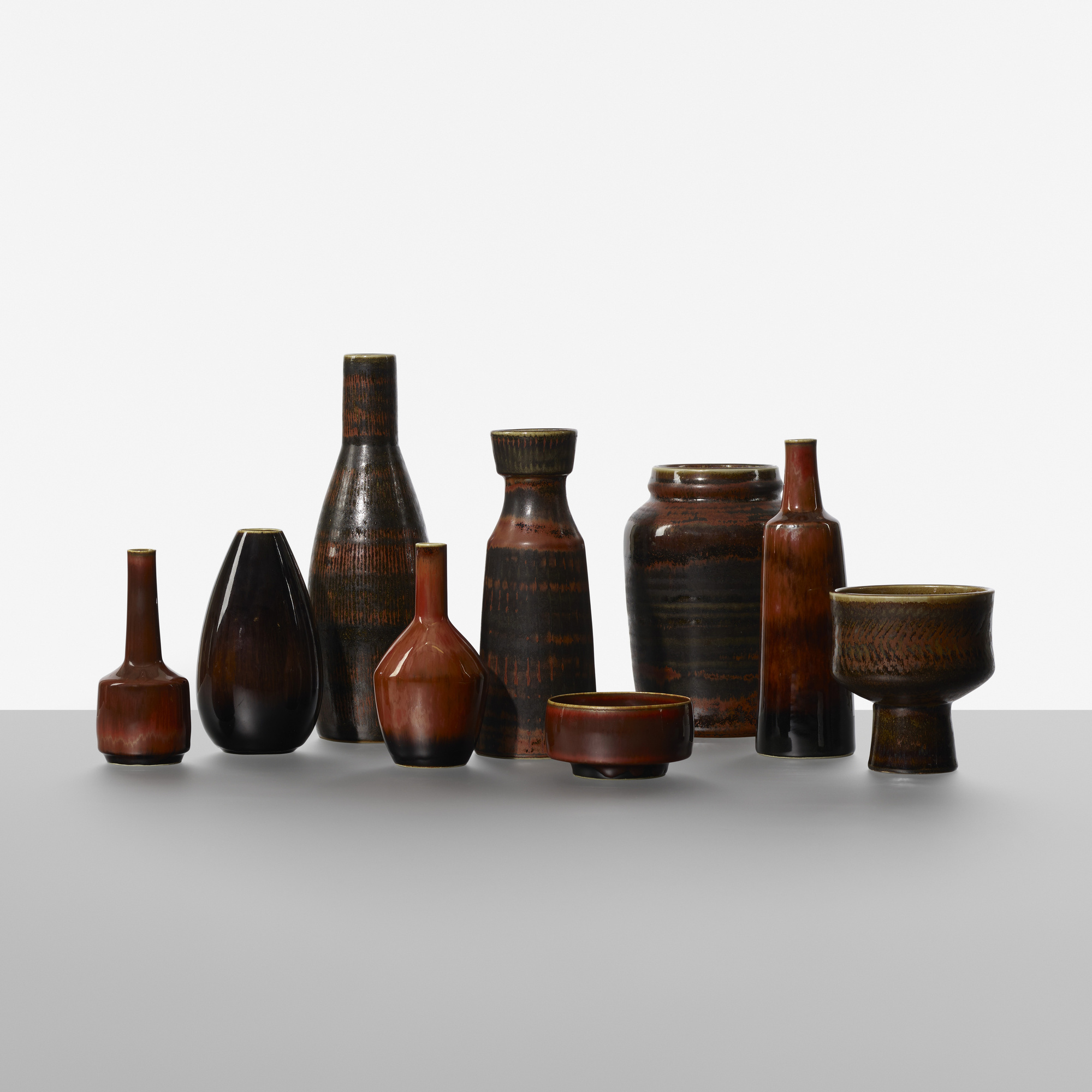 231: Carl-Harry Stalhane / collection of nine vases (1 of 3)