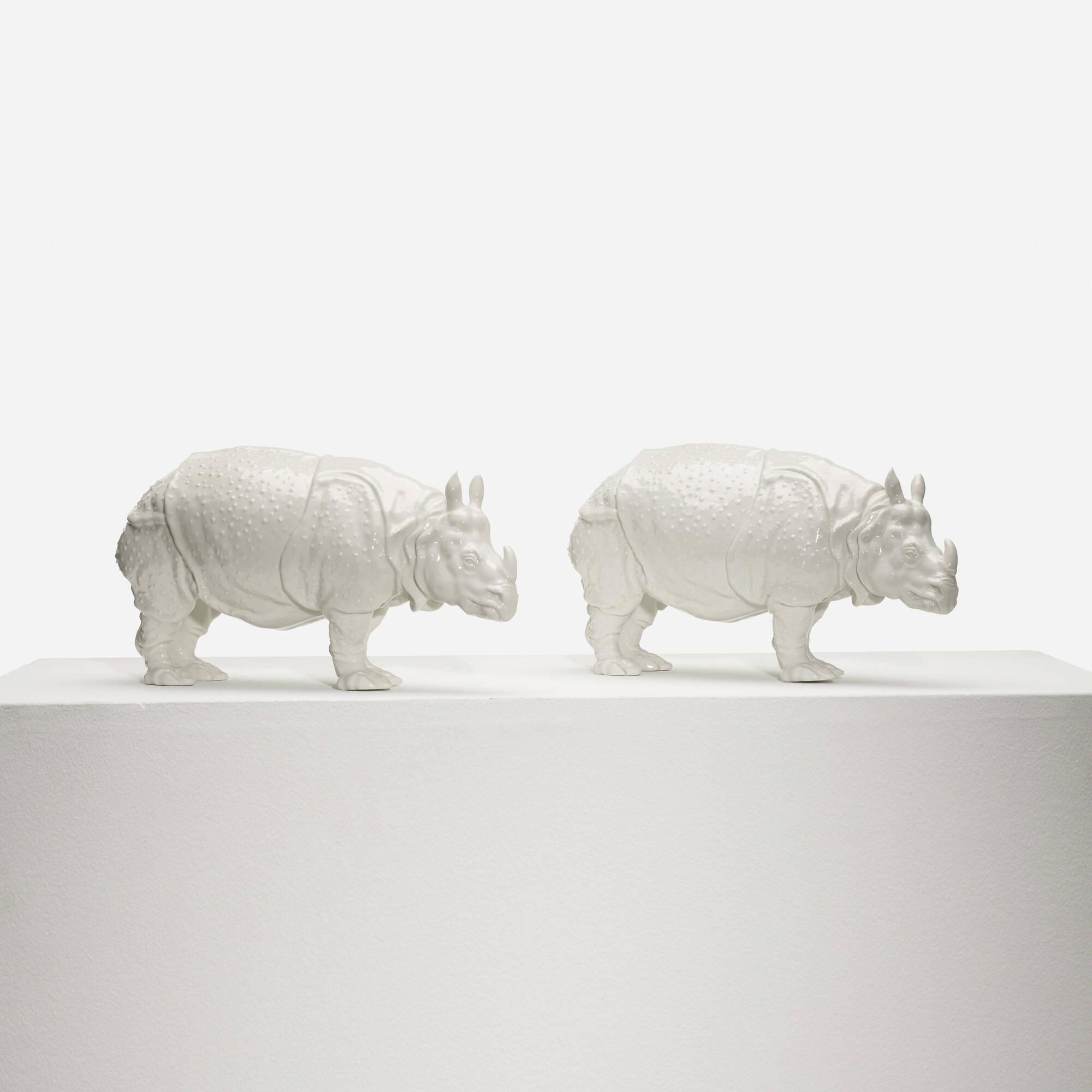 231: Nymphenburg / Clara Rhinoceros, pair (2 of 3)