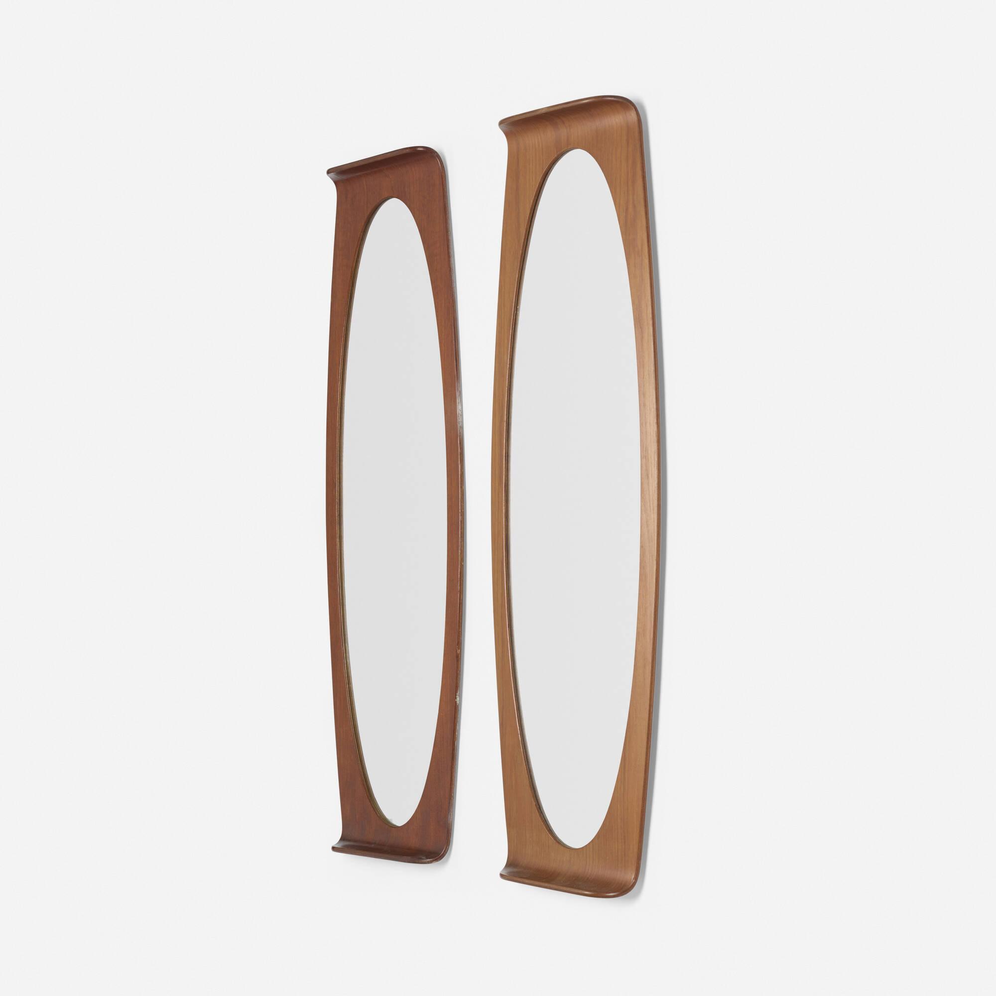 231: Franco Campo and Carlo Graffi / wall mirrors, pair (2 of 2)