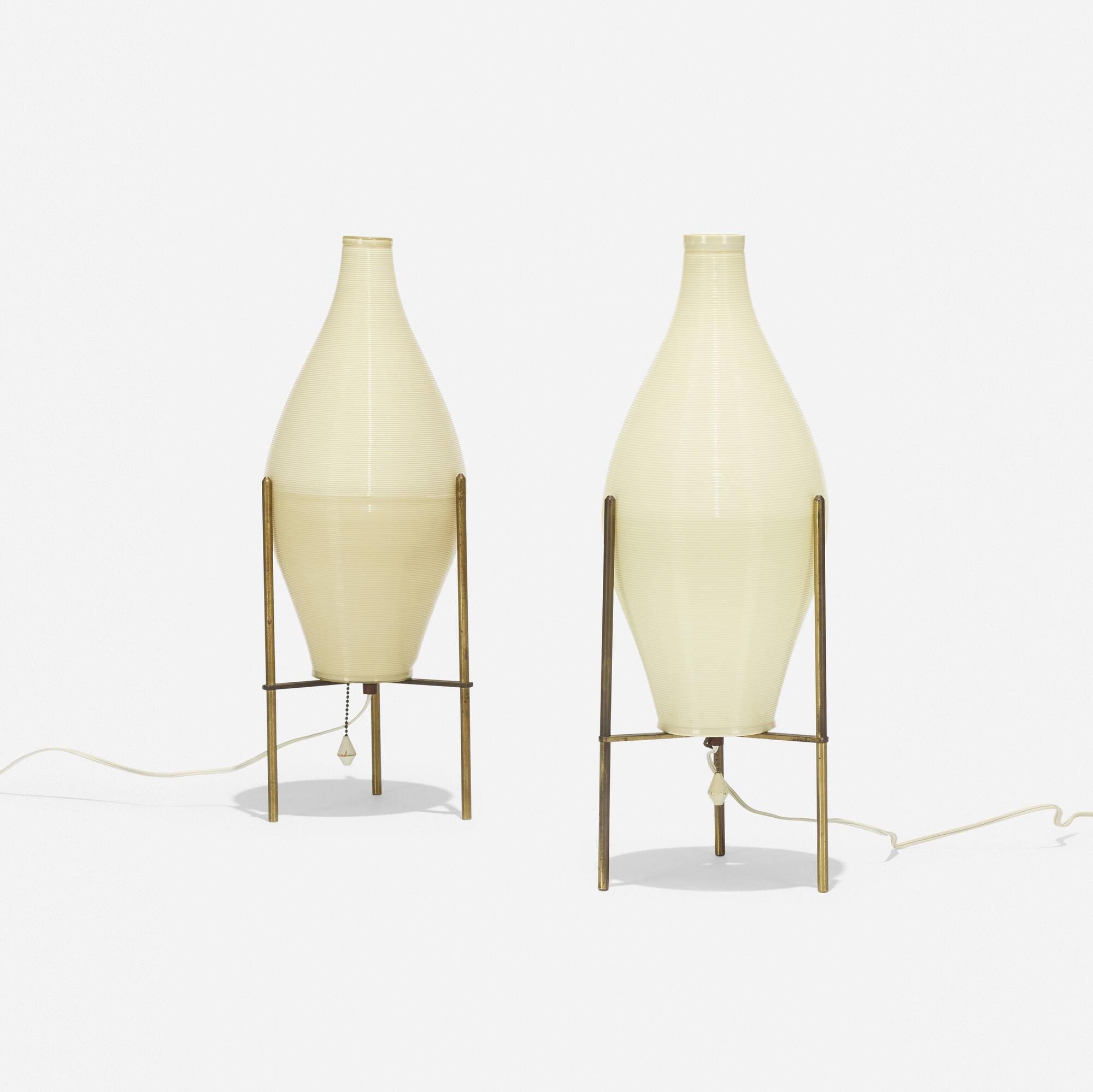 232: Yasha Heifetz / Rotaflex table lamps, pair (1 of 2)