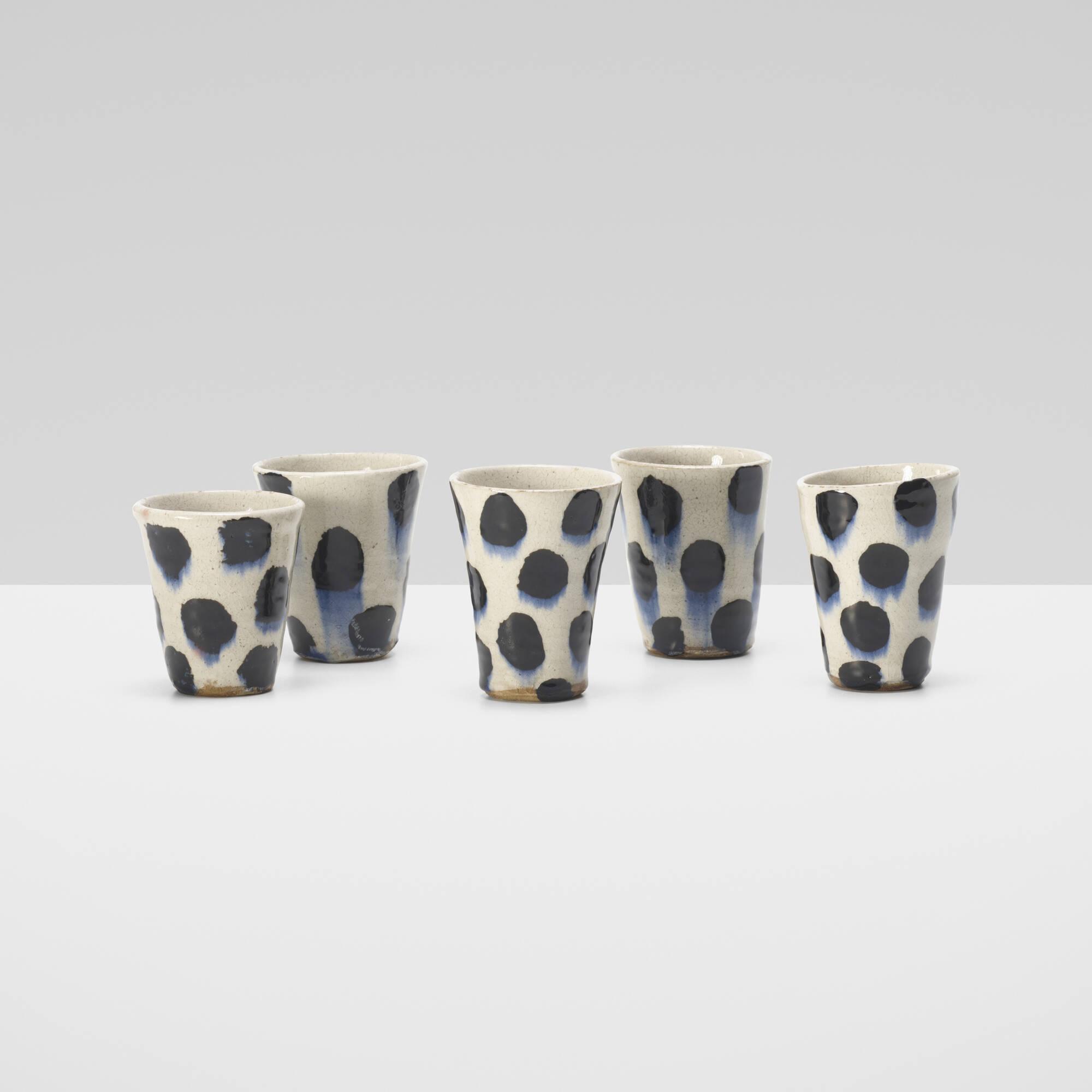 232: Jun Kaneko / cups, set of five (1 of 1)