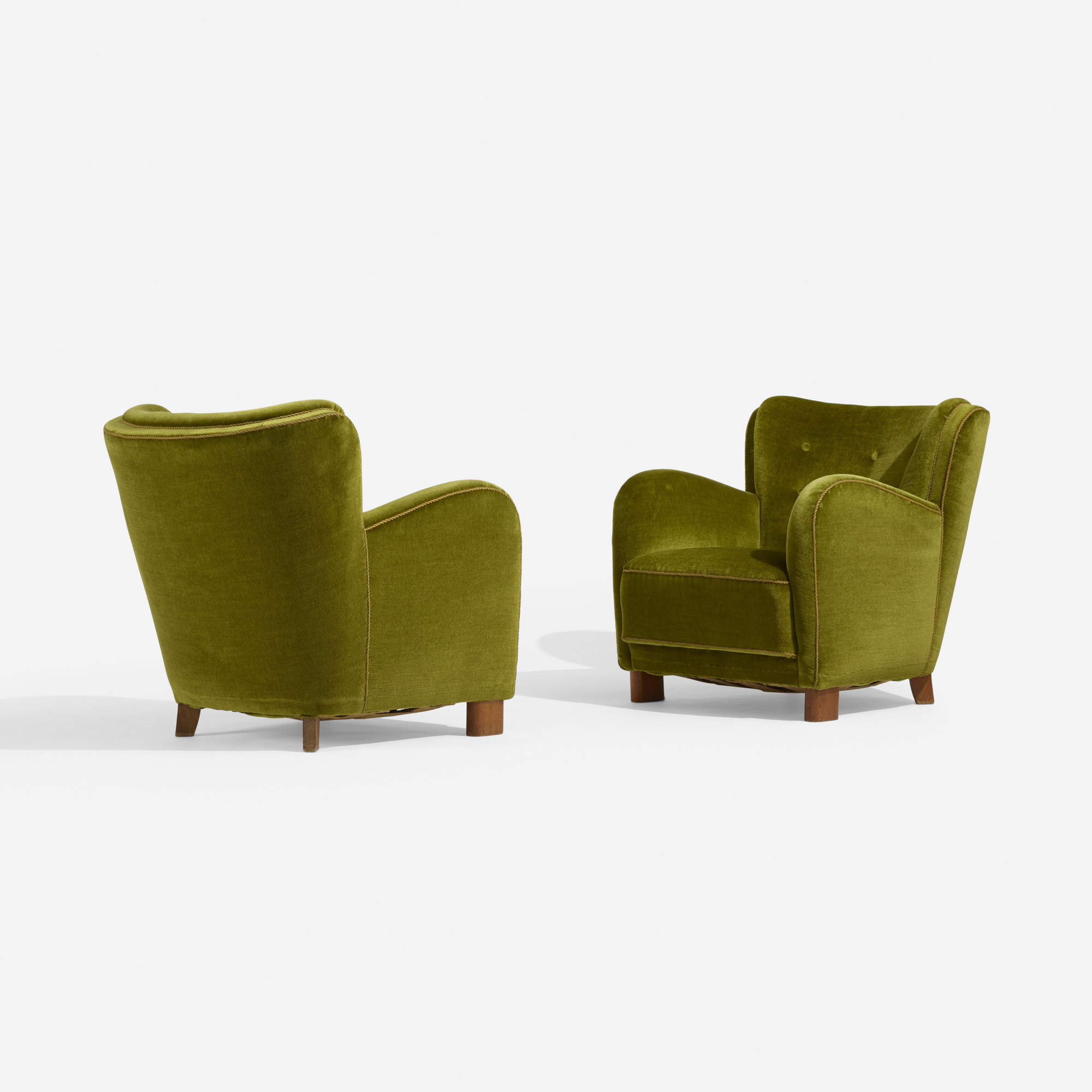 232: Fritz Hansen, attribution / lounge chairs, pair (2 of 3)