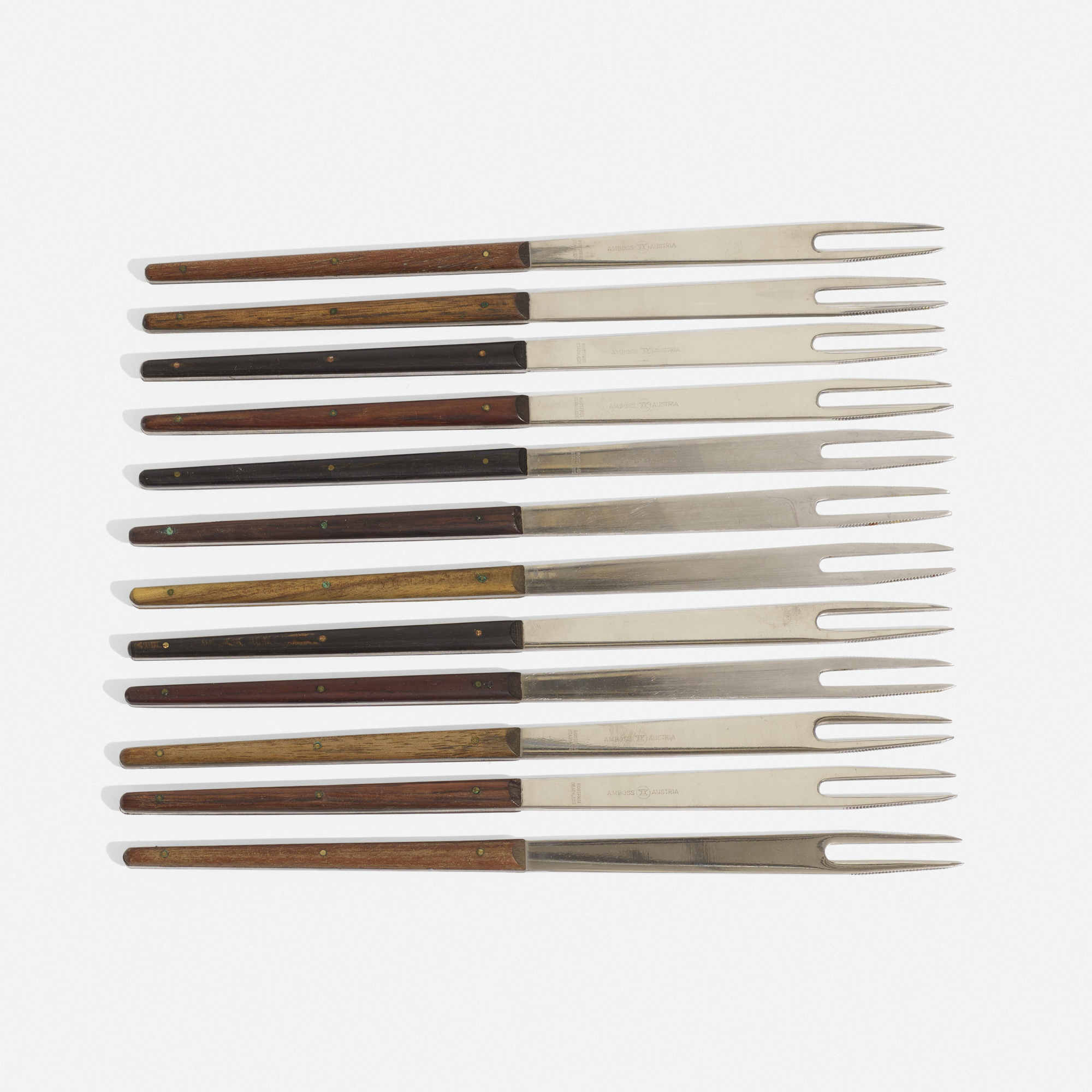 232: Carl Auböck III / collection of three fondue fork sets (2 of 3)