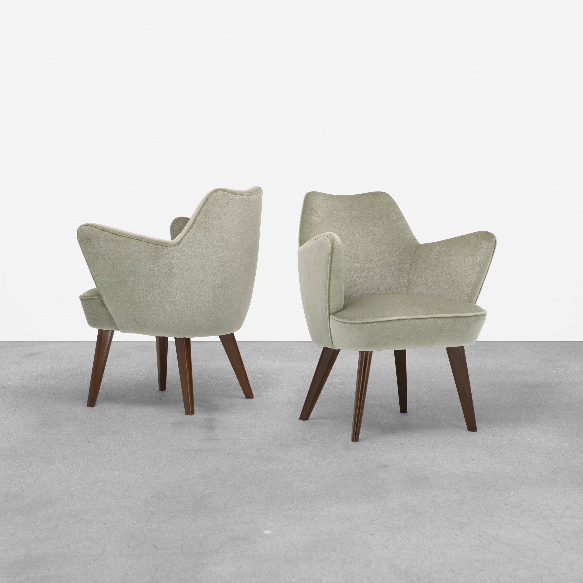233: Gio Ponti / pair of armchairs from the Augustus Ocean Liner (1 of 3)