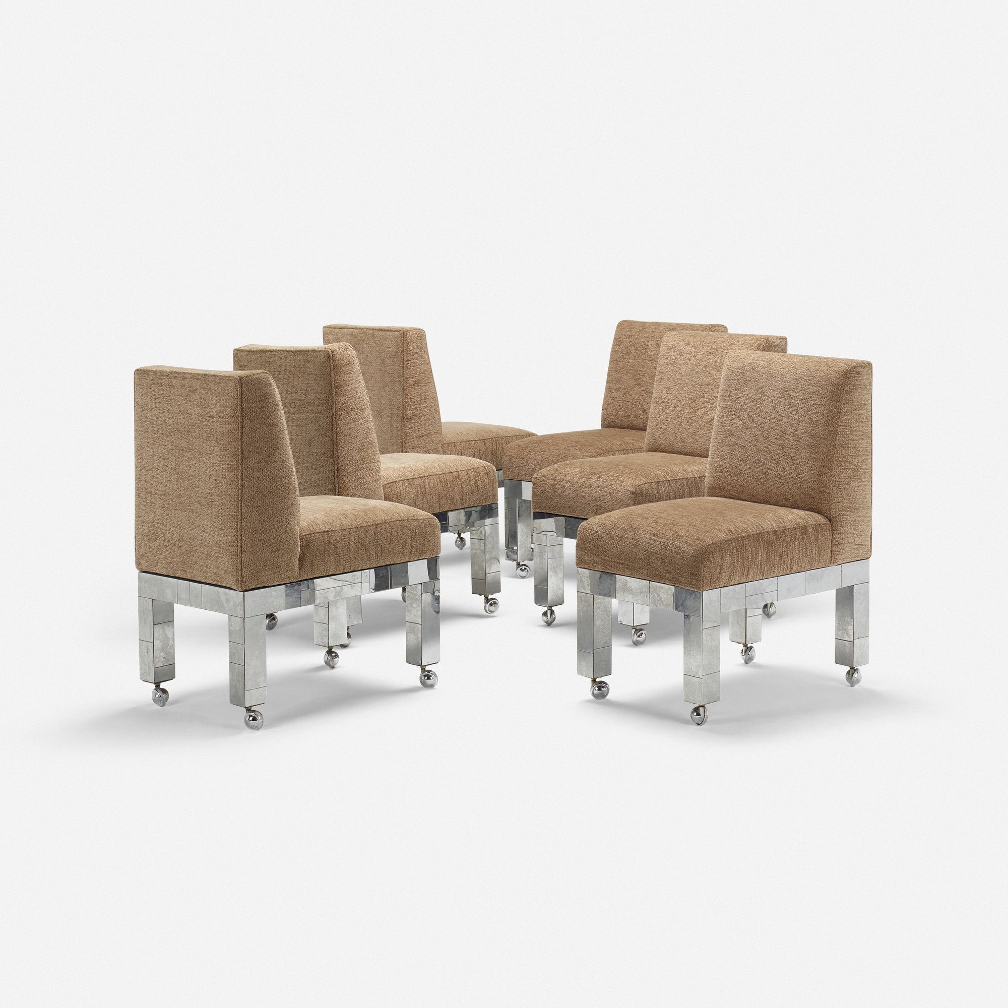 233: Paul Evans / Cityscape Dining Chairs From The PE 200 Series, Set Of