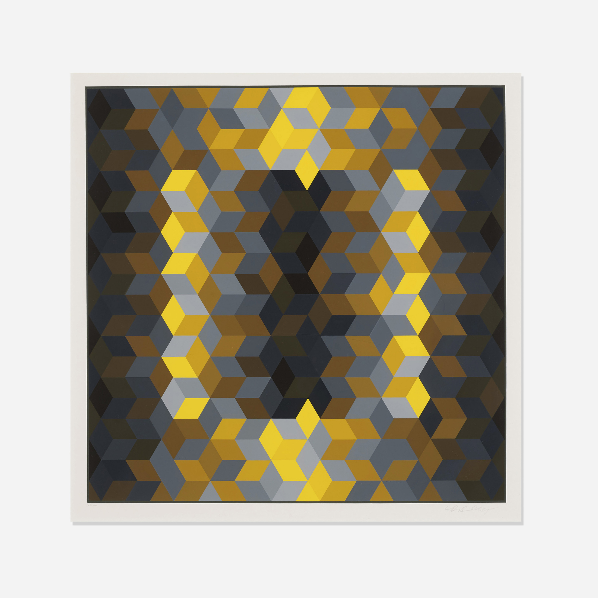 233: Victor Vasarely / Untitled (from the Homage to the Hexagon series) (1 of 1)