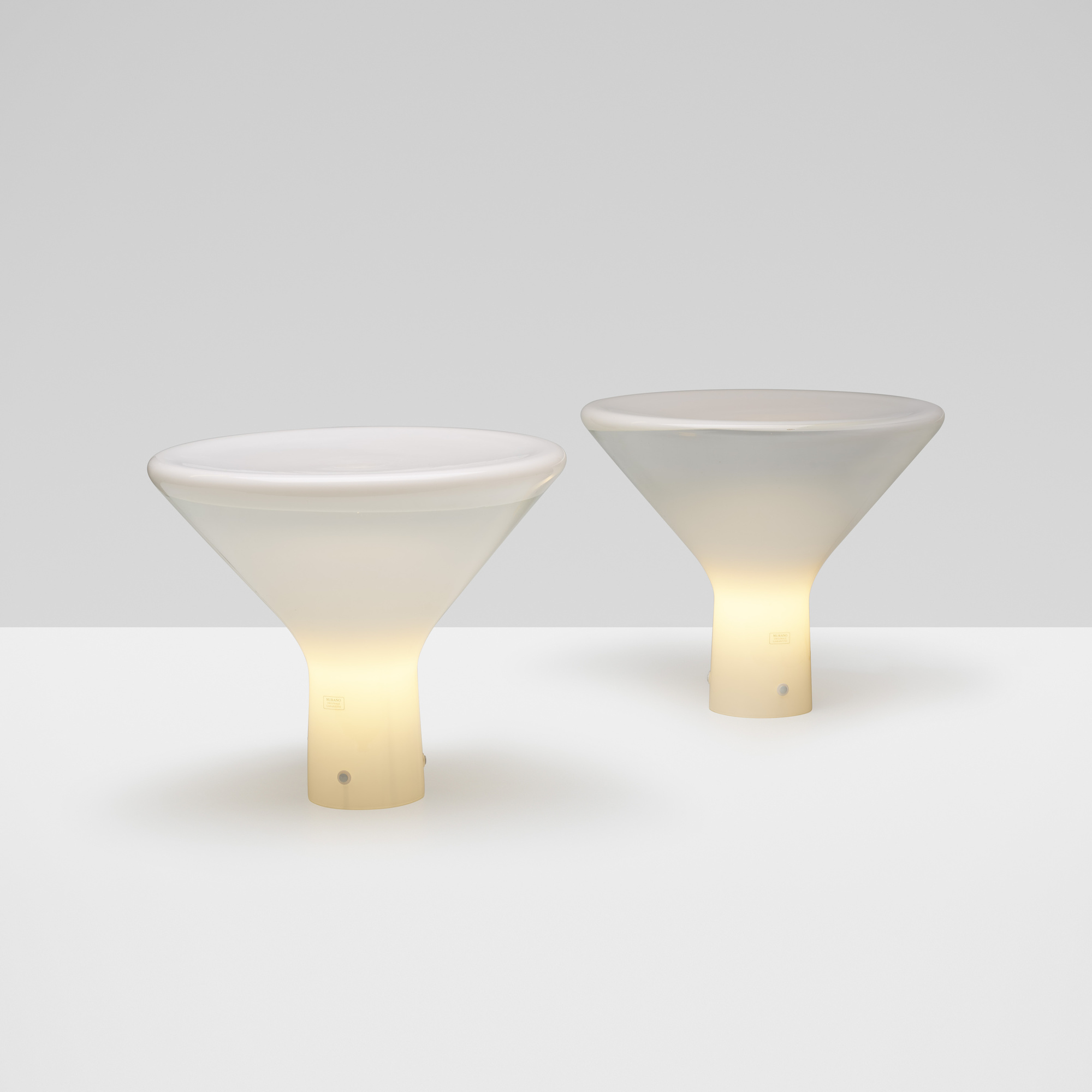 234: Angelo Mangiarotti / Accelsa table lamps, pair (1 of 4)