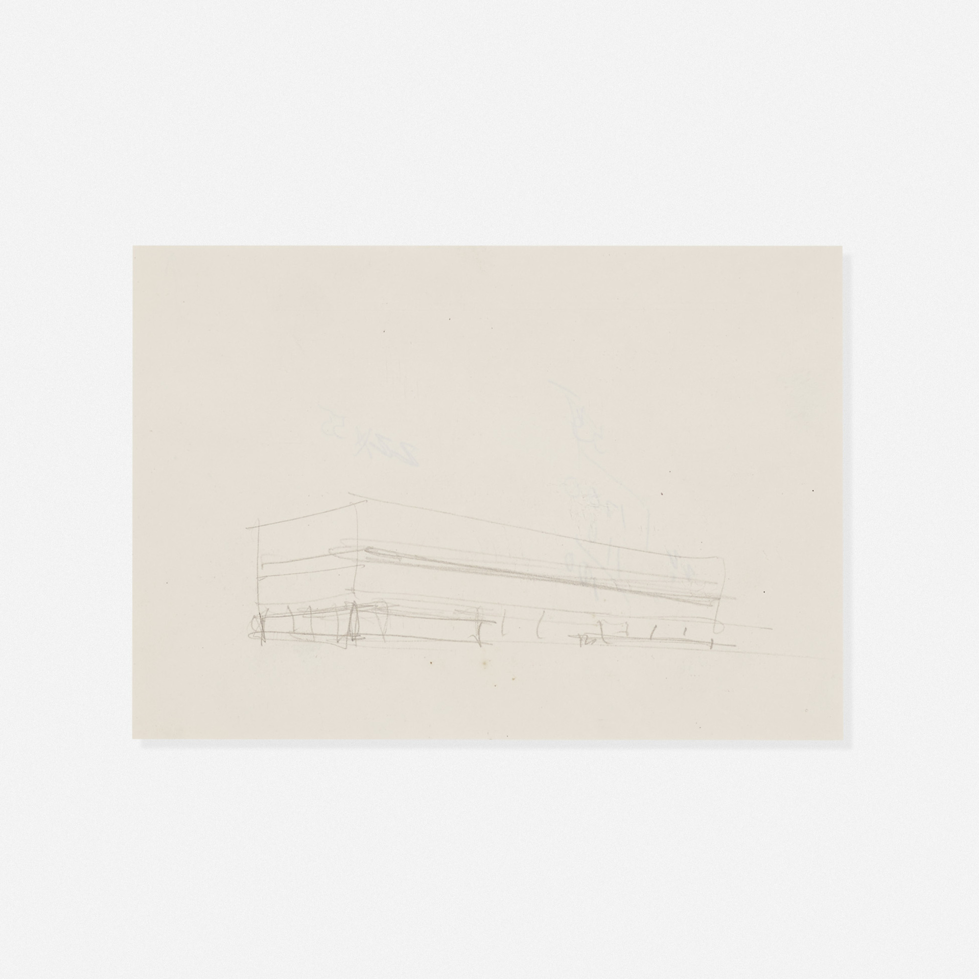 234: Ludwig Mies van der Rohe / exterior sketch for the Illinois Institute of Technology (1 of 1)
