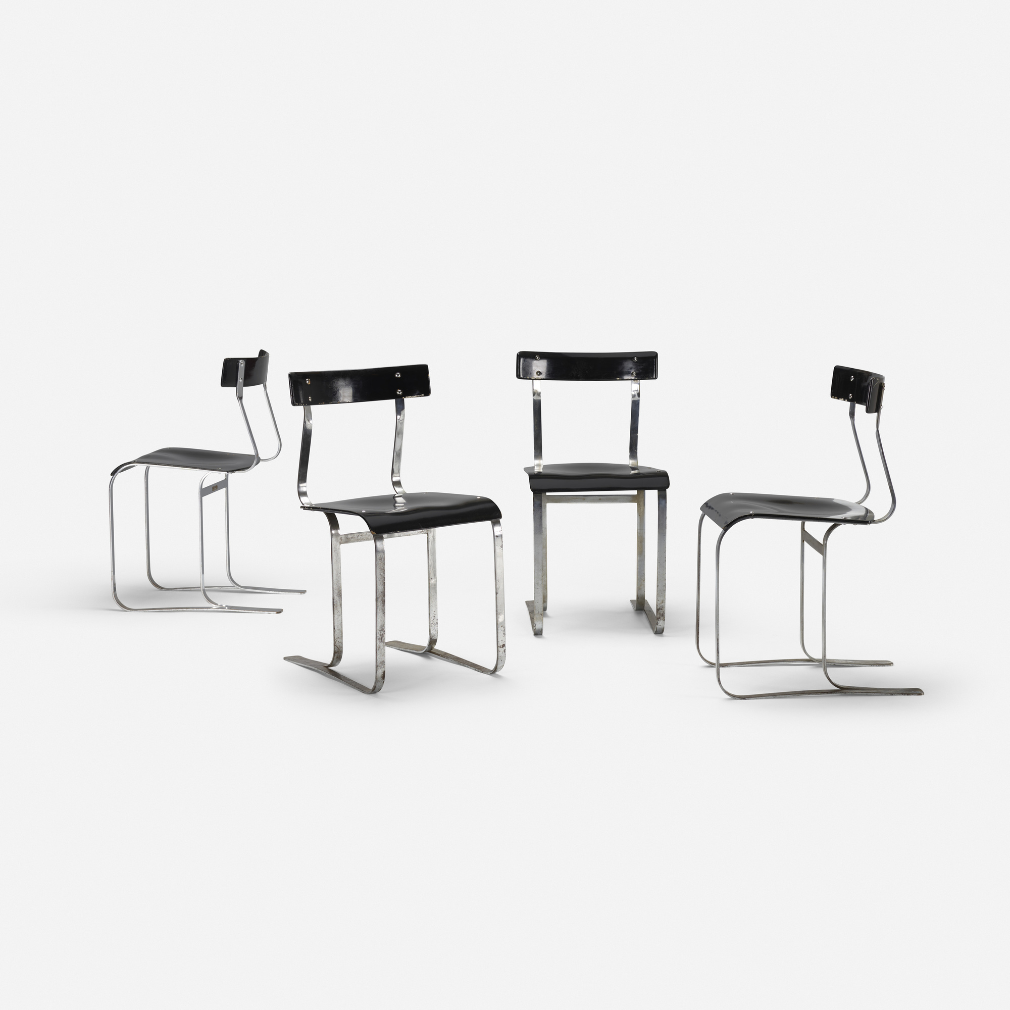 235: Marcel Breuer / Chairs Model WB301, Set Of Four (1 Of 3
