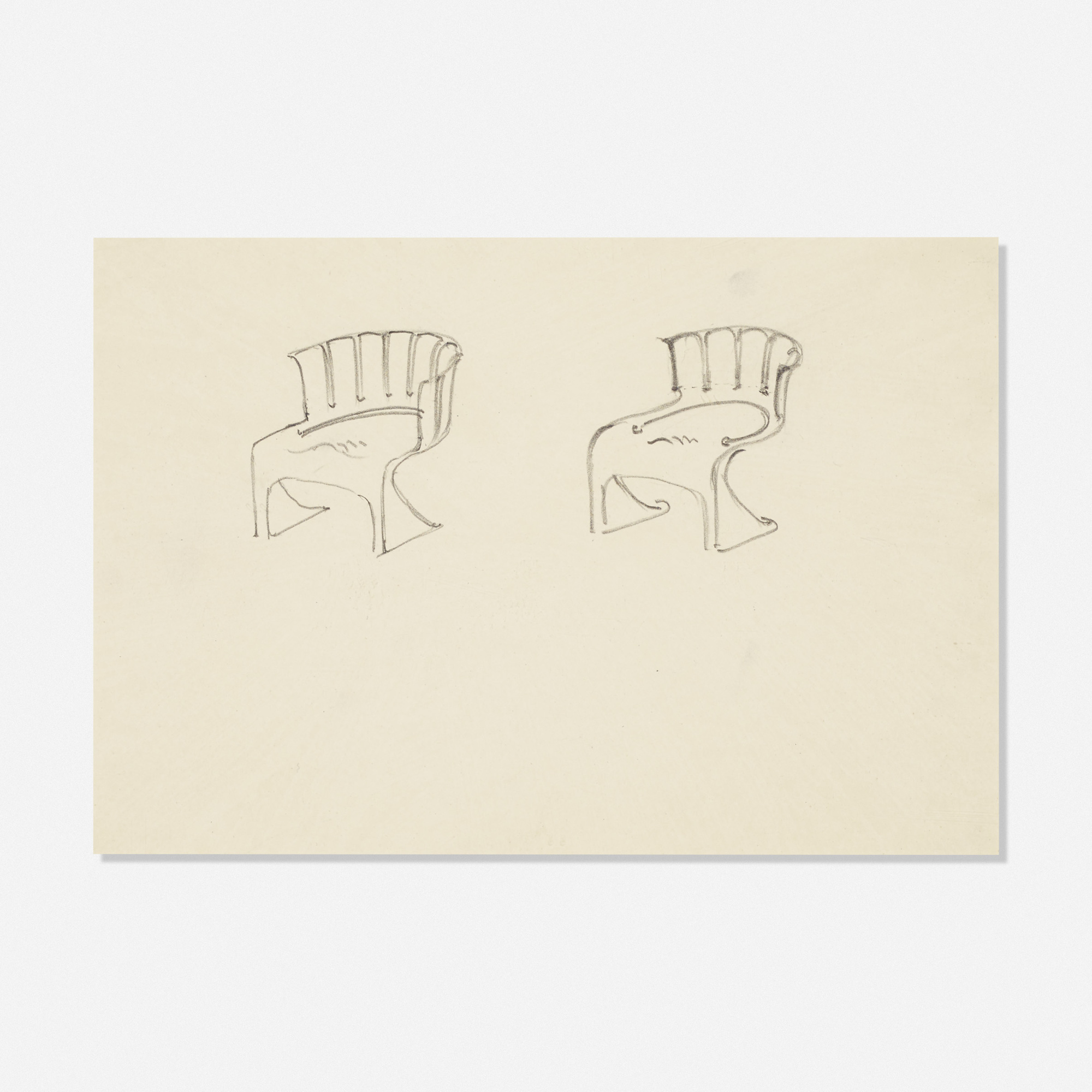 235: LUDWIG MIES VAN DER ROHE, study for shell-shaped chairs