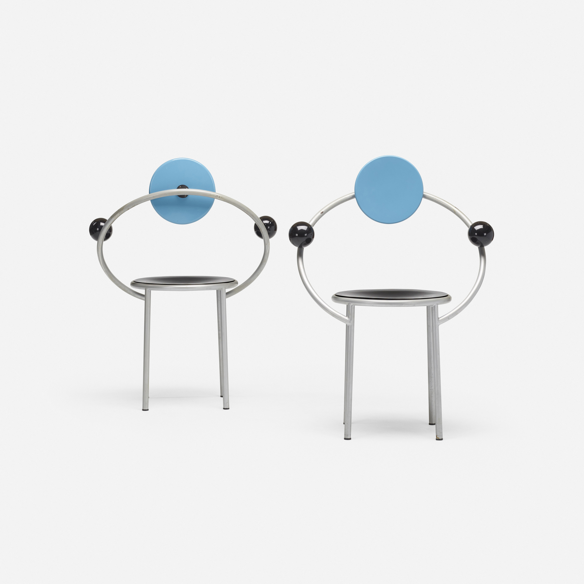 235: Michele De Lucchi / First chairs, pair (1 of 3)