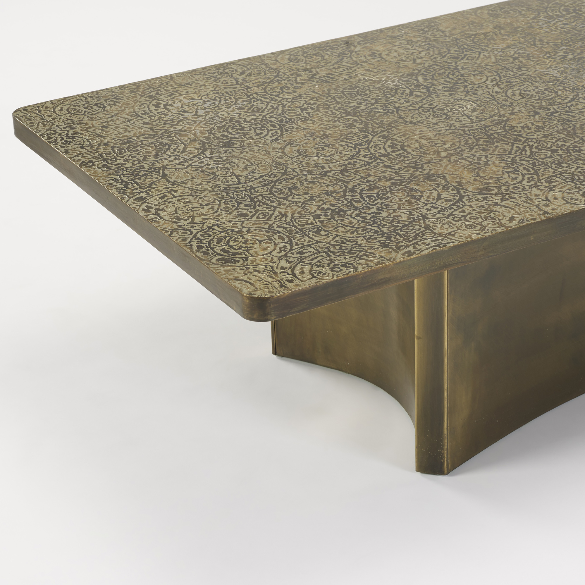 Amazing ... 235: Philip And Kelvin LaVerne / Rare Etruscan Coffee Table (2 Of 4)
