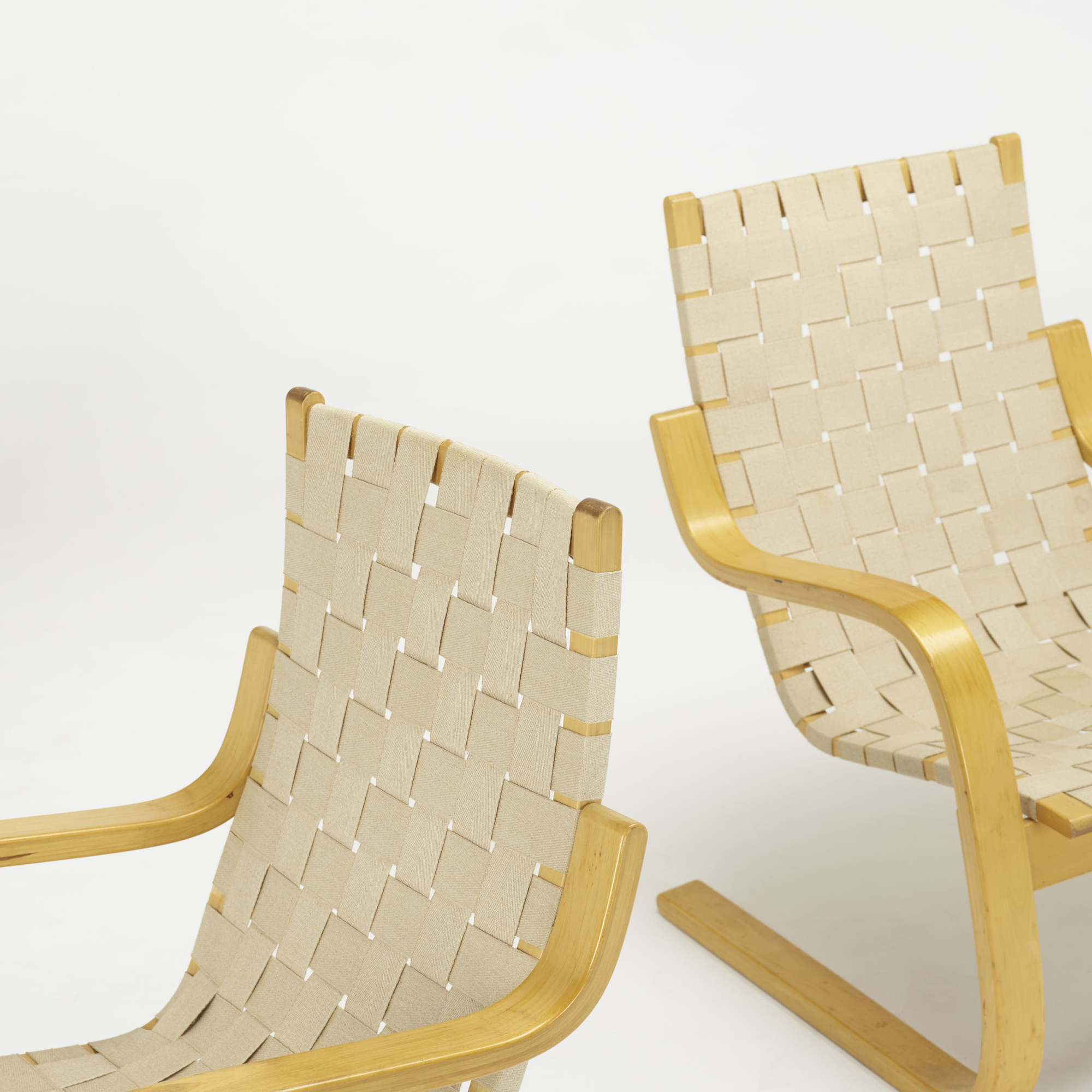 ... 237: Alvar Aalto / Cantilevered Chairs Model 406, Set Of Three (3 Of