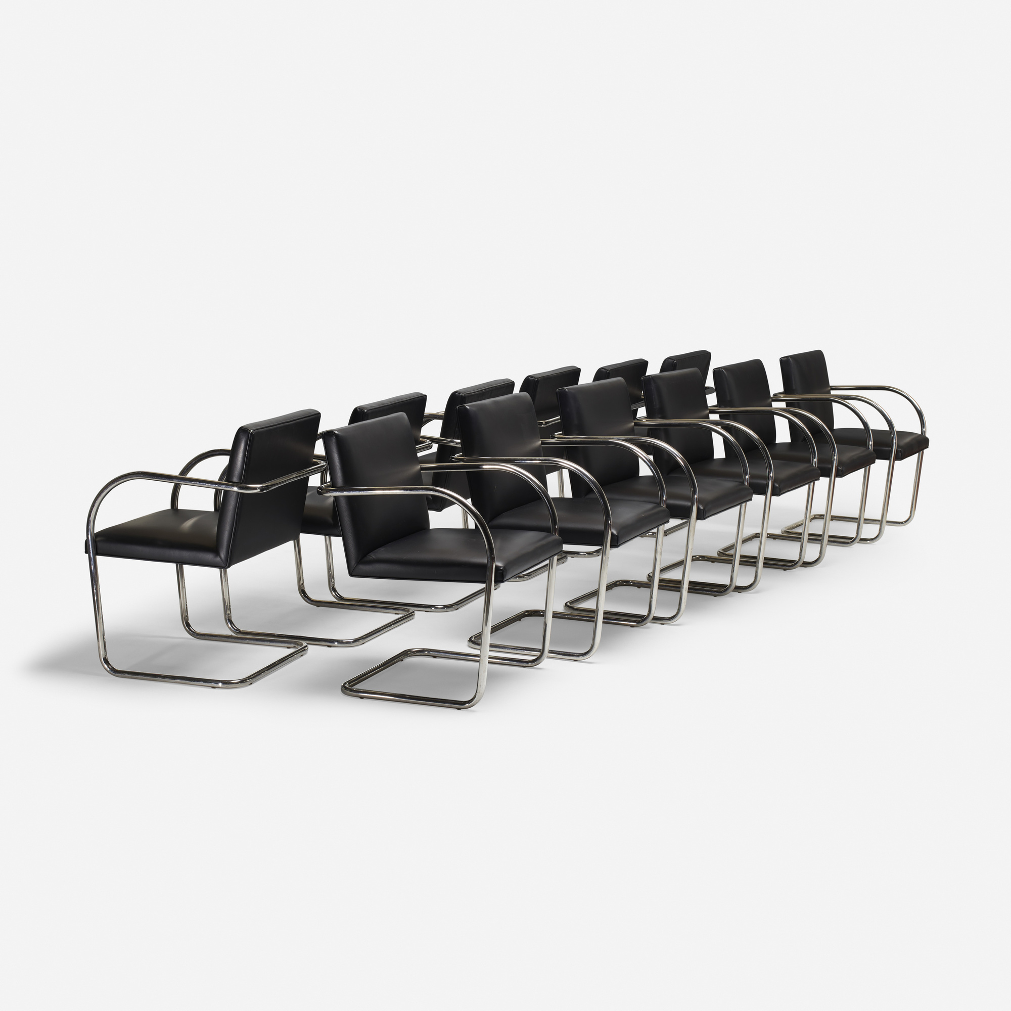 238: Ludwig Mies van der Rohe / set of twelve Brno chairs from The Arts Club of Chicago (1 of 4)