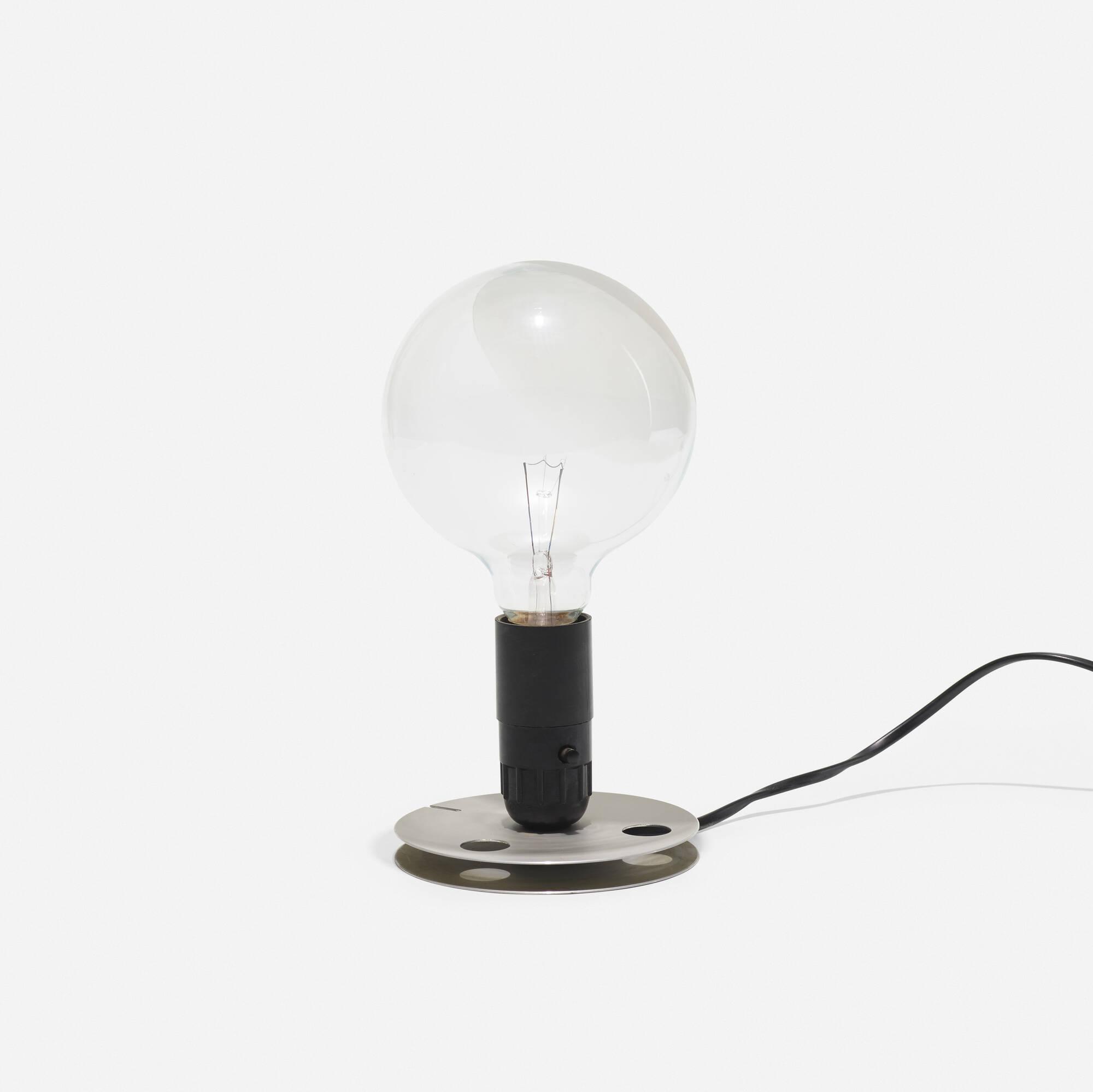 238: ACHILLE CASTIGLIONI, Lampadina table lamp < Taxonomy of Design ...