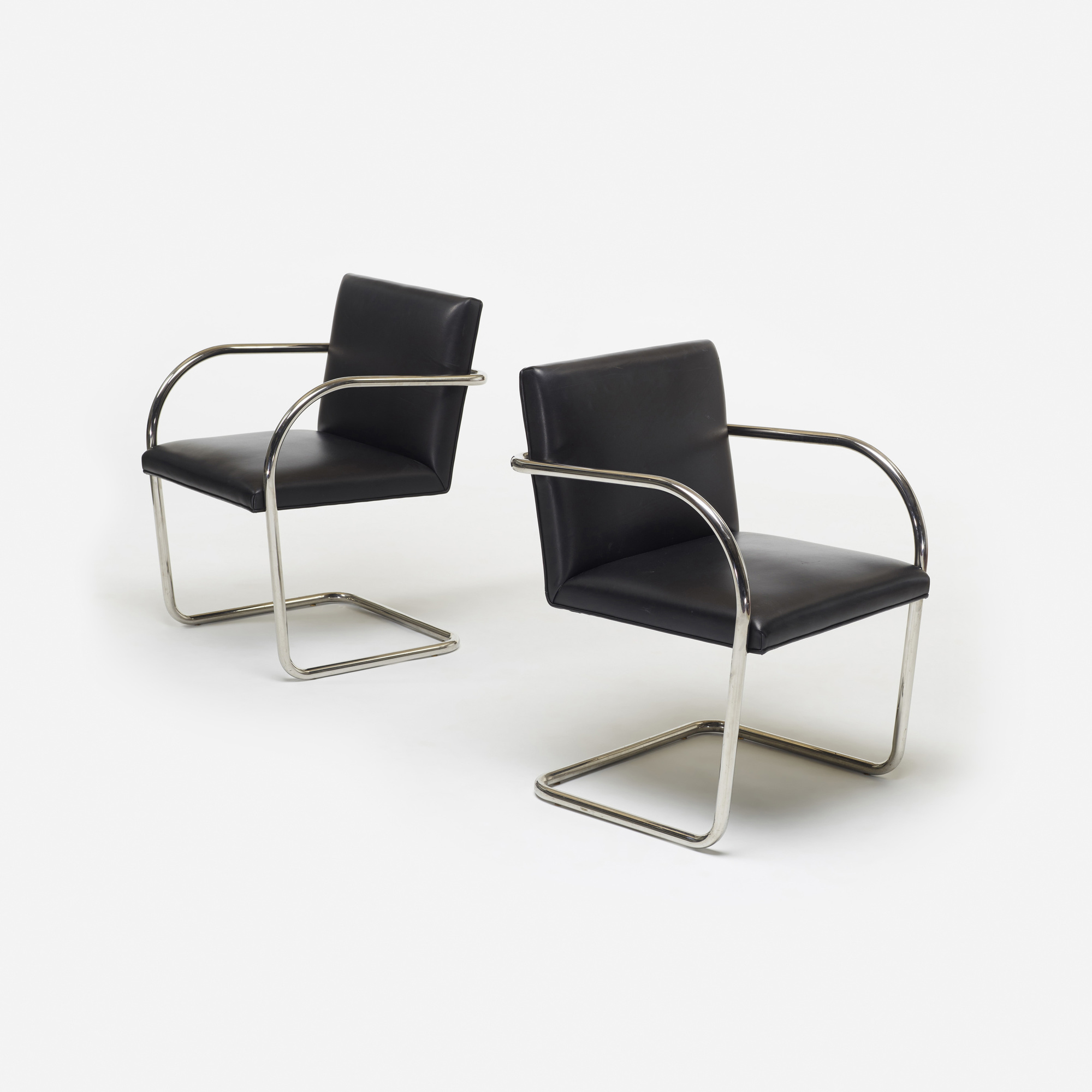 mies van der rohe chair brno soldmid century chairs modern leather cowhide chairs pair brn. Black Bedroom Furniture Sets. Home Design Ideas