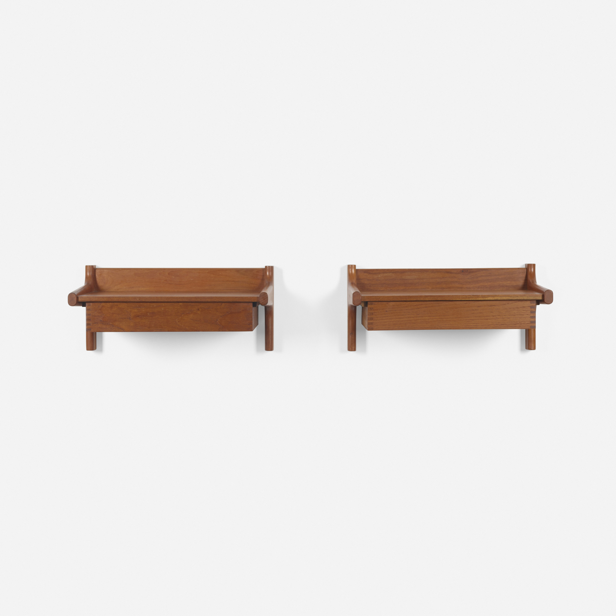 238: Børge Mogensen / wall-mounted nightstands, pair (2 of 2)