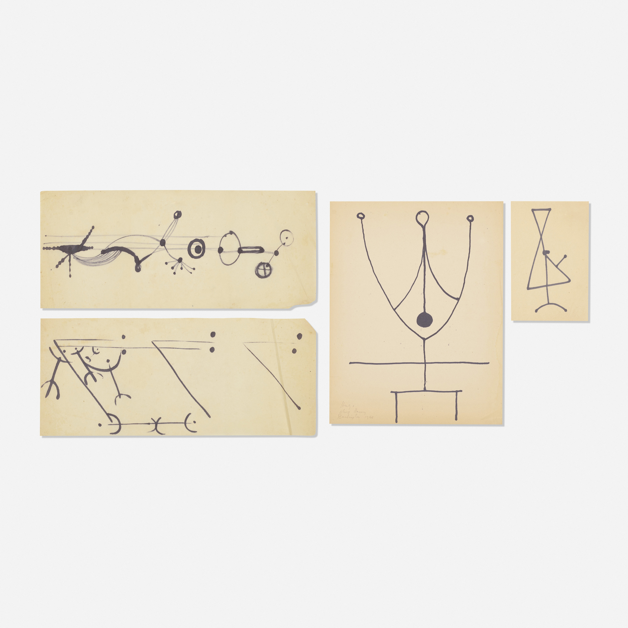239: Hugo Weber / Collection of four drawings (1 of 1)