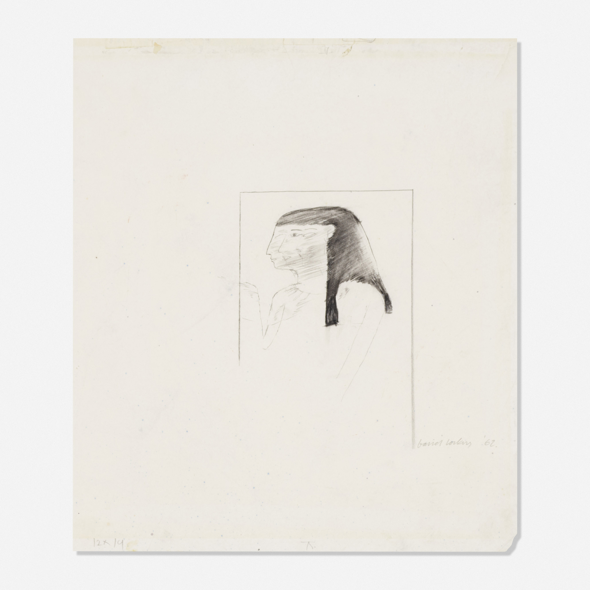 239: David Hockney / Untitled (study for The First Marriage) (1 of 1)
