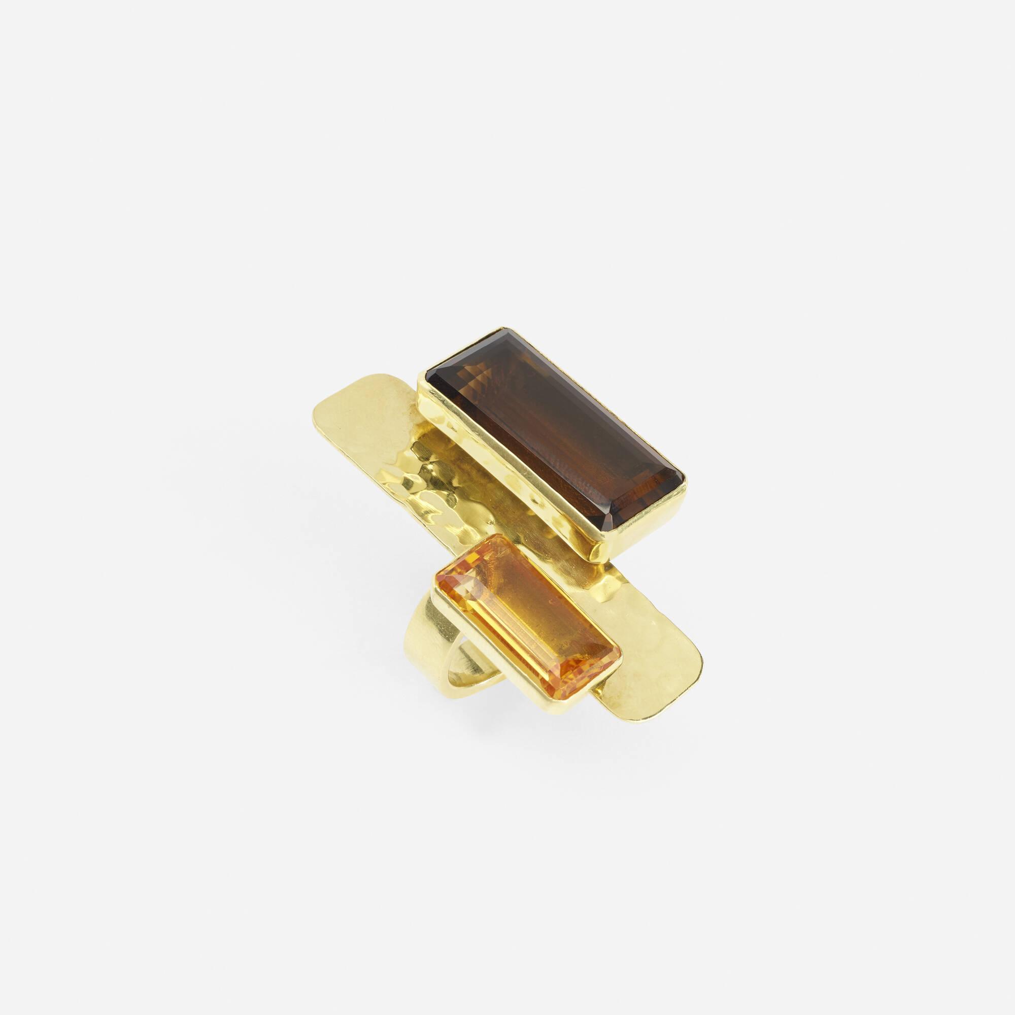 239: Robert Lee Morris / A gold and quartz ring (1 of 1)