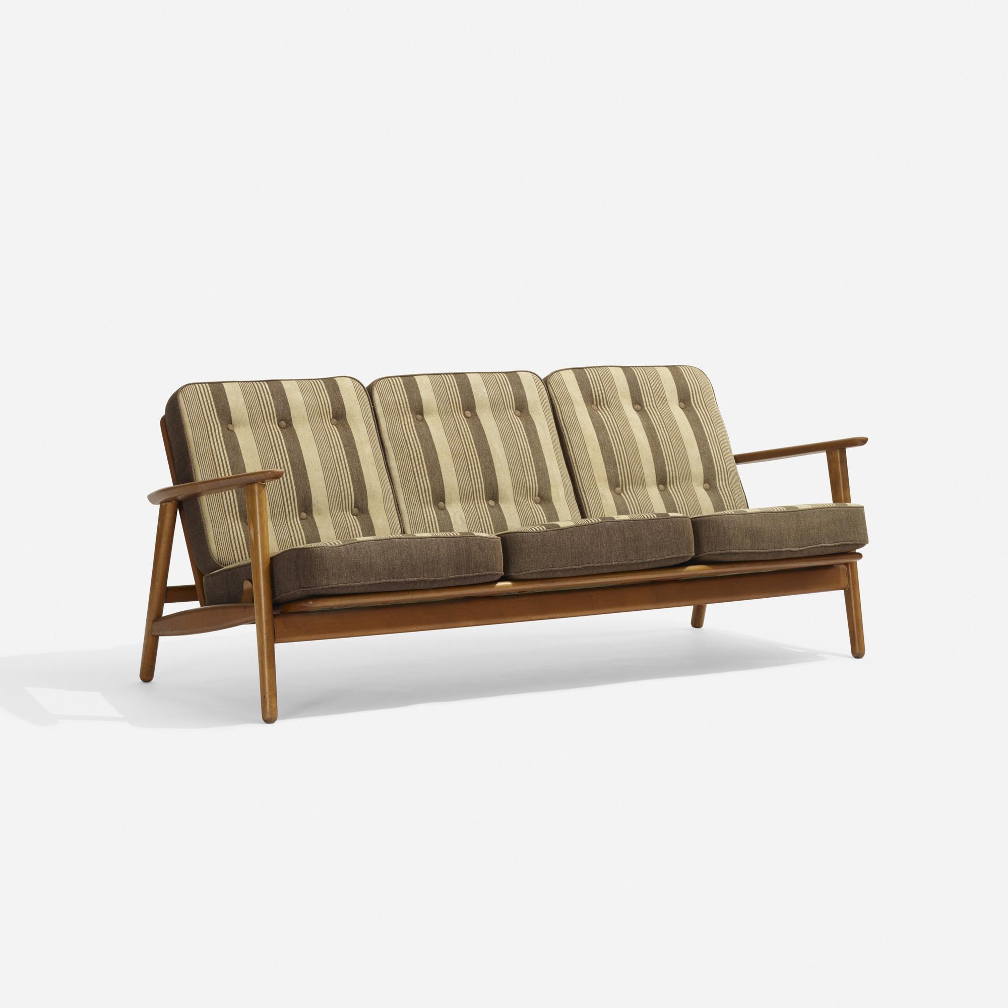 wegner sofa hans wegner sofa in oak and petrol upholstery for getama at thesofa. Black Bedroom Furniture Sets. Home Design Ideas
