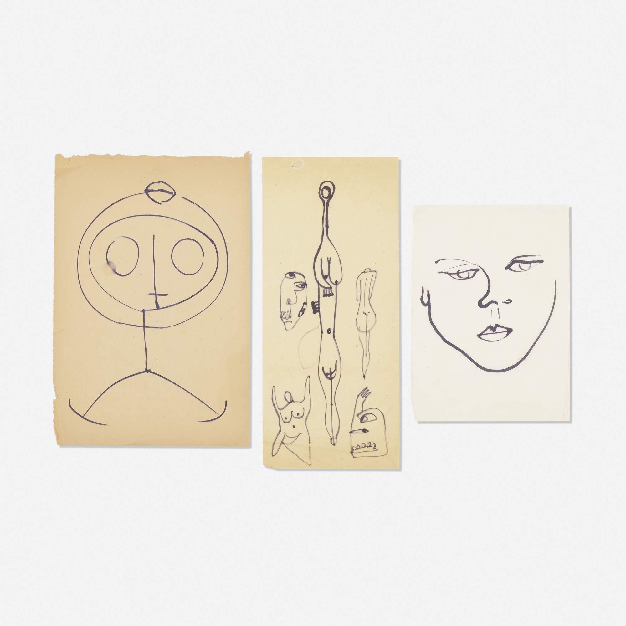 240: Hugo Weber / Collection of three drawings (1 of 1)