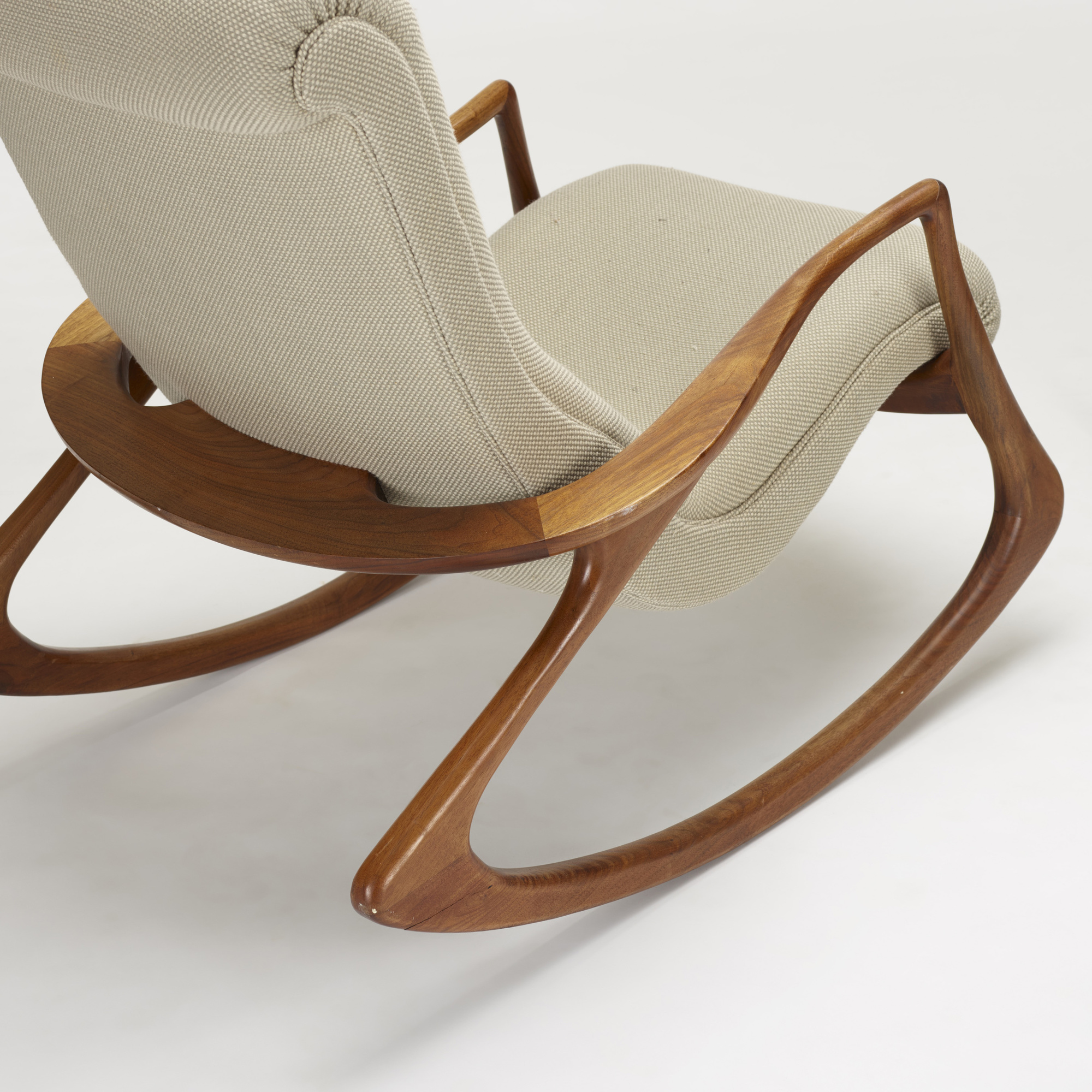 ... 240: Vladimir Kagan / Sculpted Rocking Chair And Ottoman (3 Of 3)