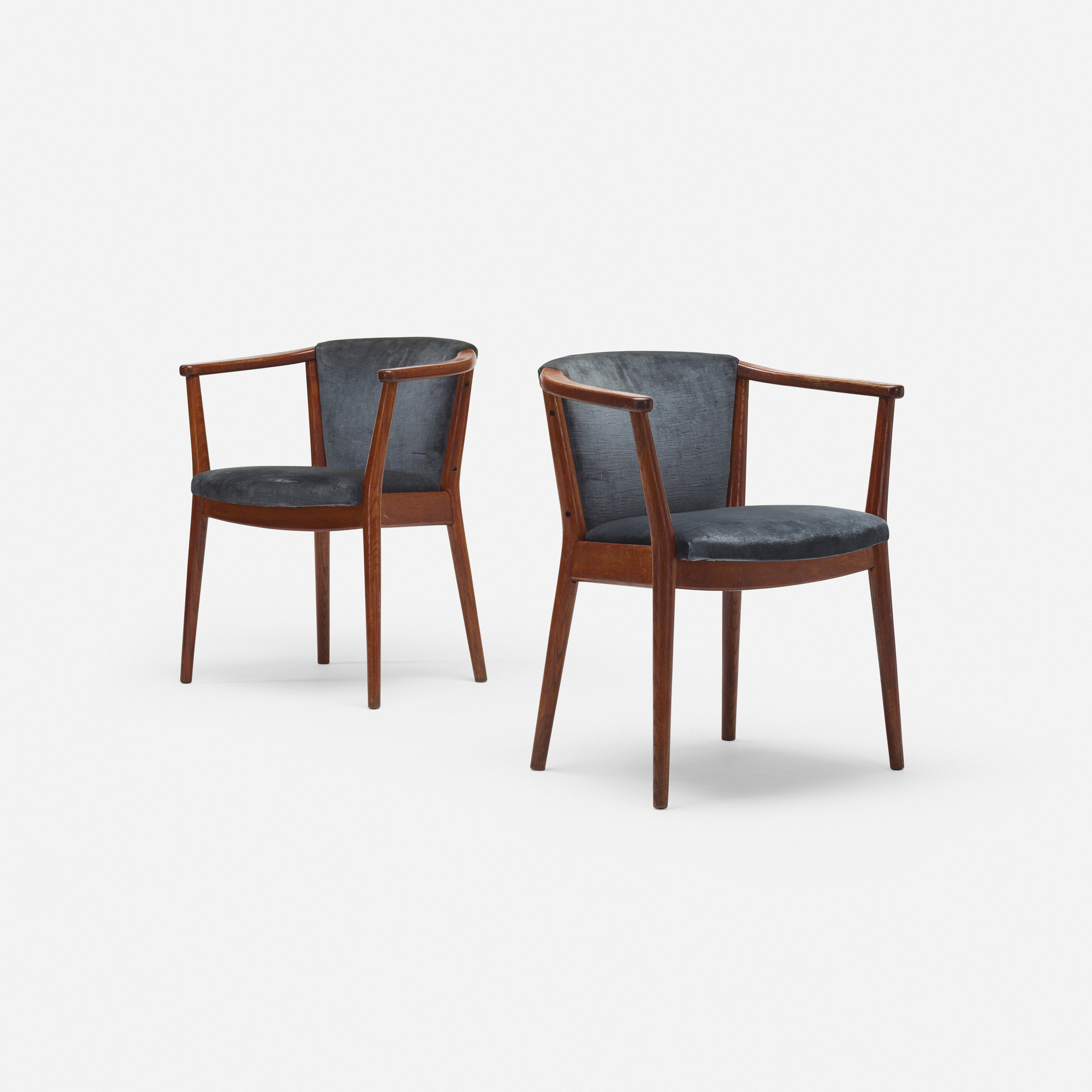 241: Nanna Ditzel, attribution / armchairs, pair (1 of 3)