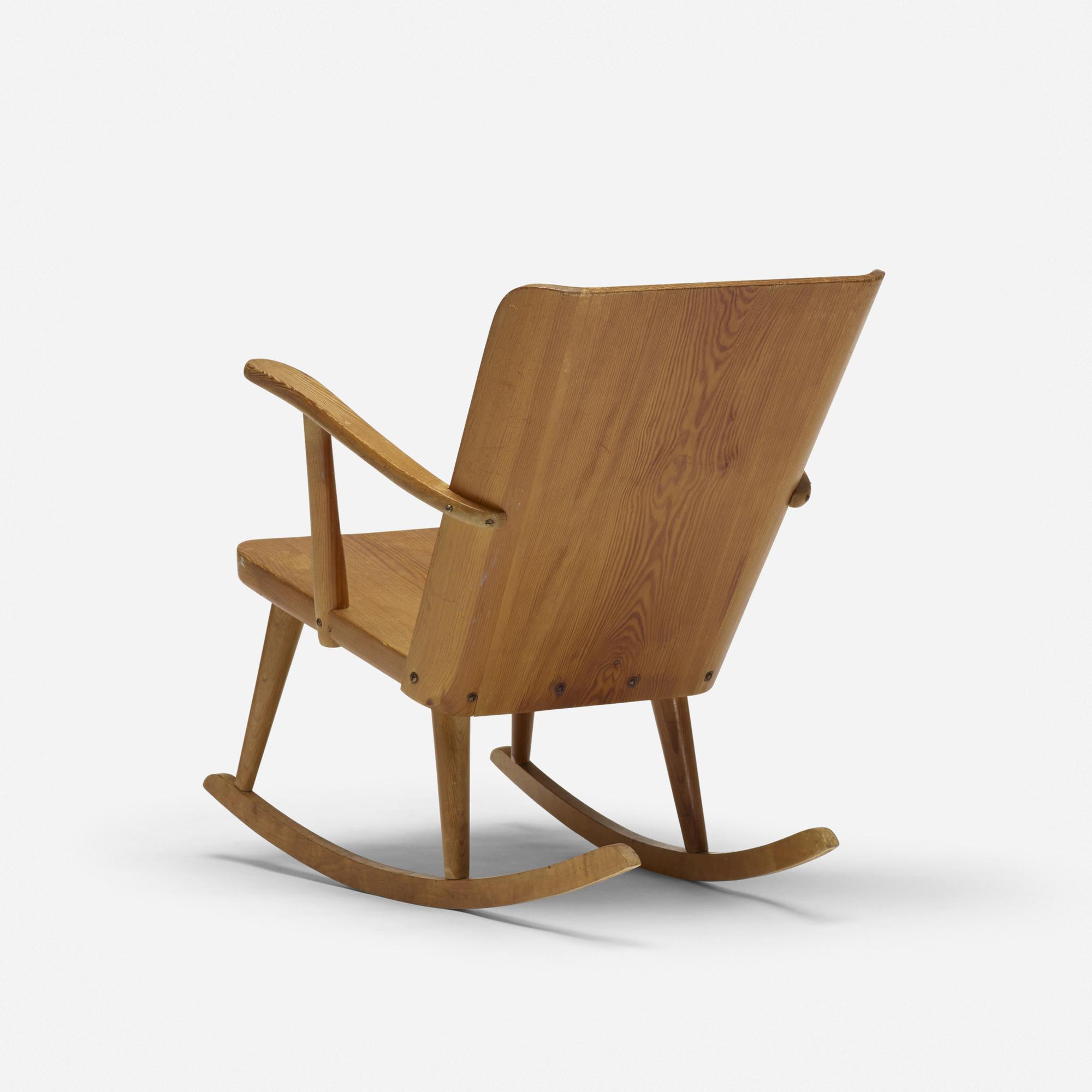 241: Carl Malmsten / pine rocking chair (1 of 3)