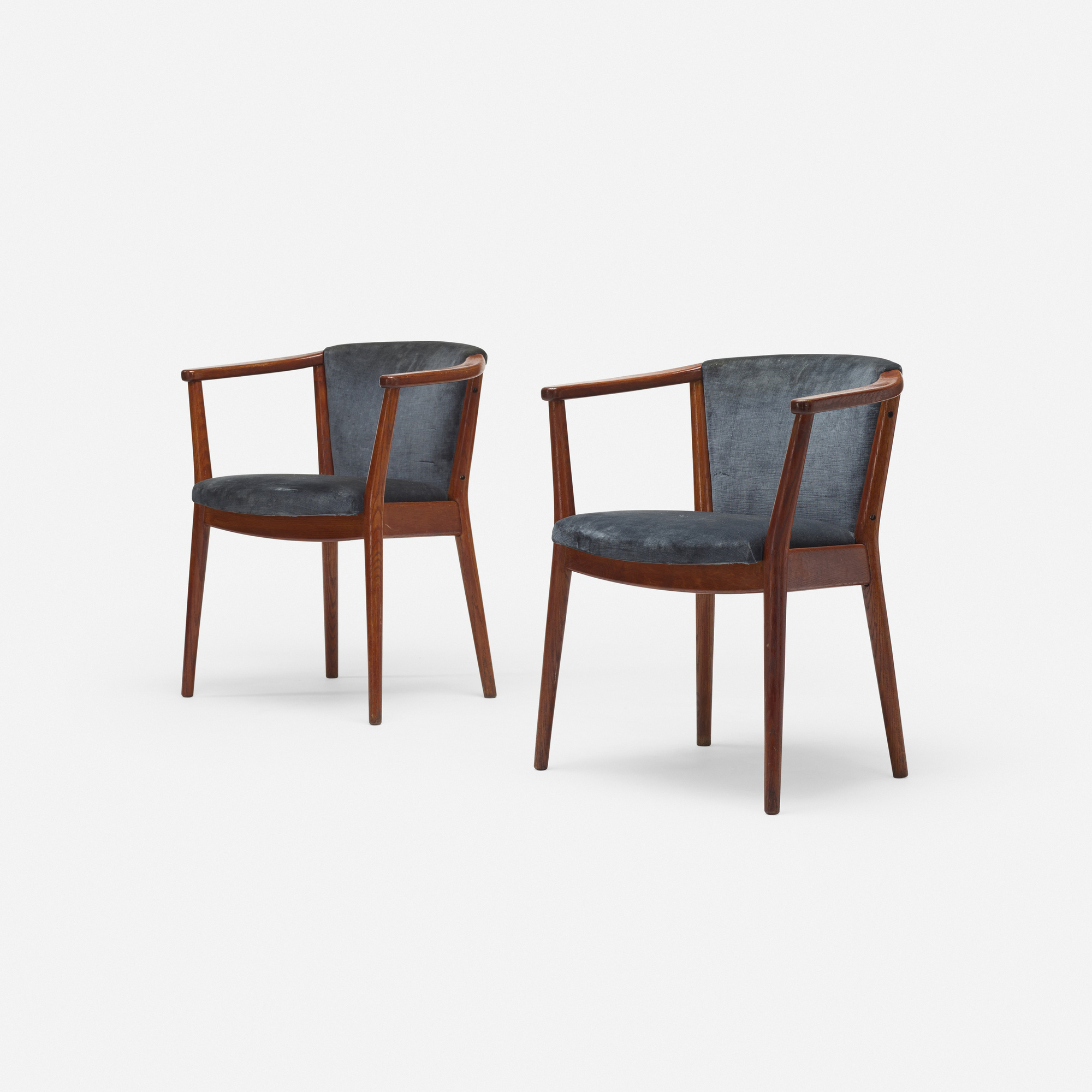 241: Nanna Ditzel, attribution / armchairs, pair (2 of 3)