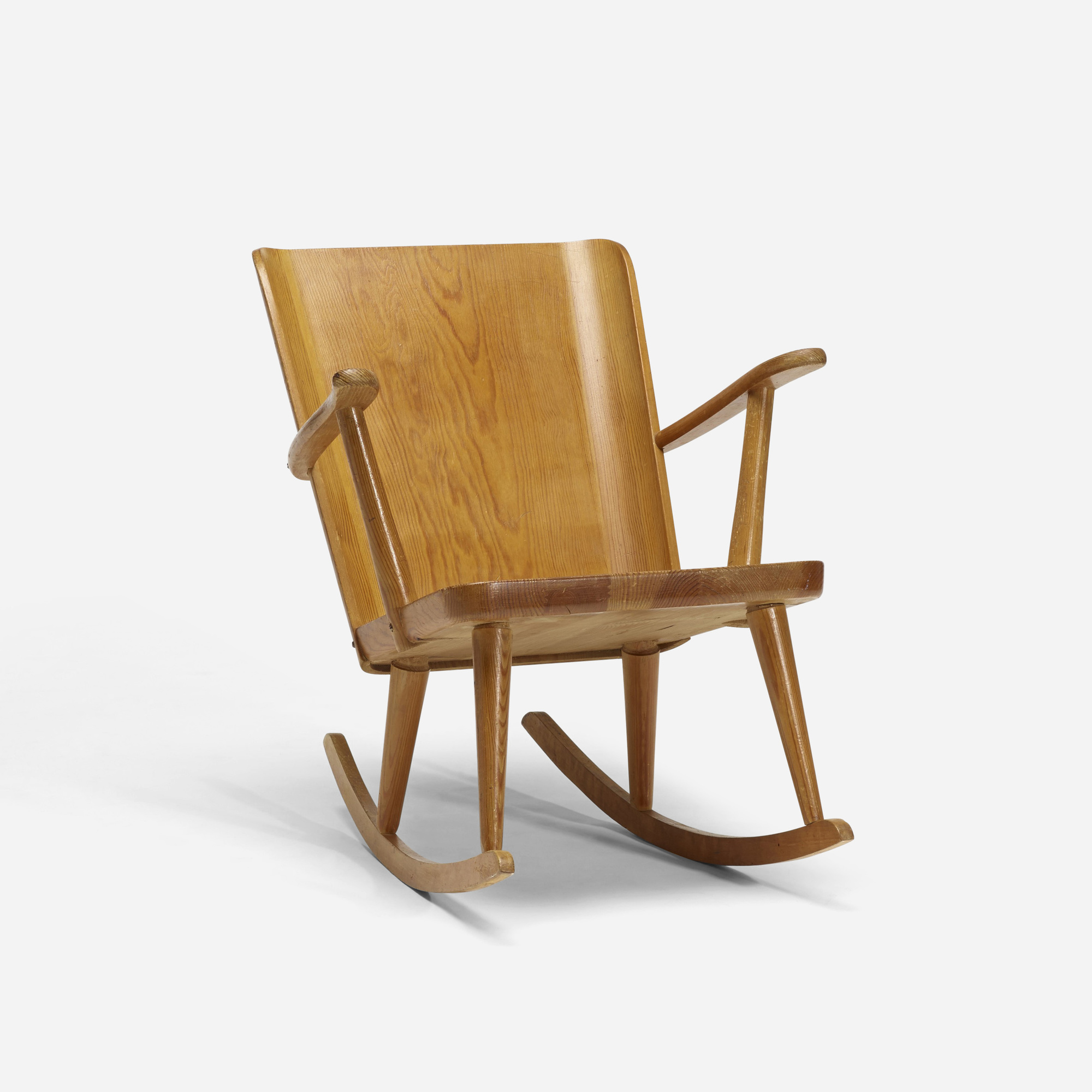 241 Carl Malmsten pine rocking chair Scandinavian Design 3