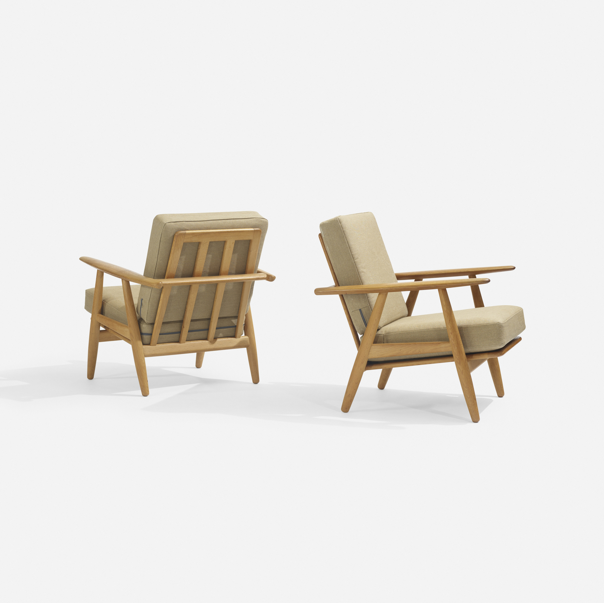 242: Hans J. Wegner / lounge chairs model GE240, pair (1 of 4)
