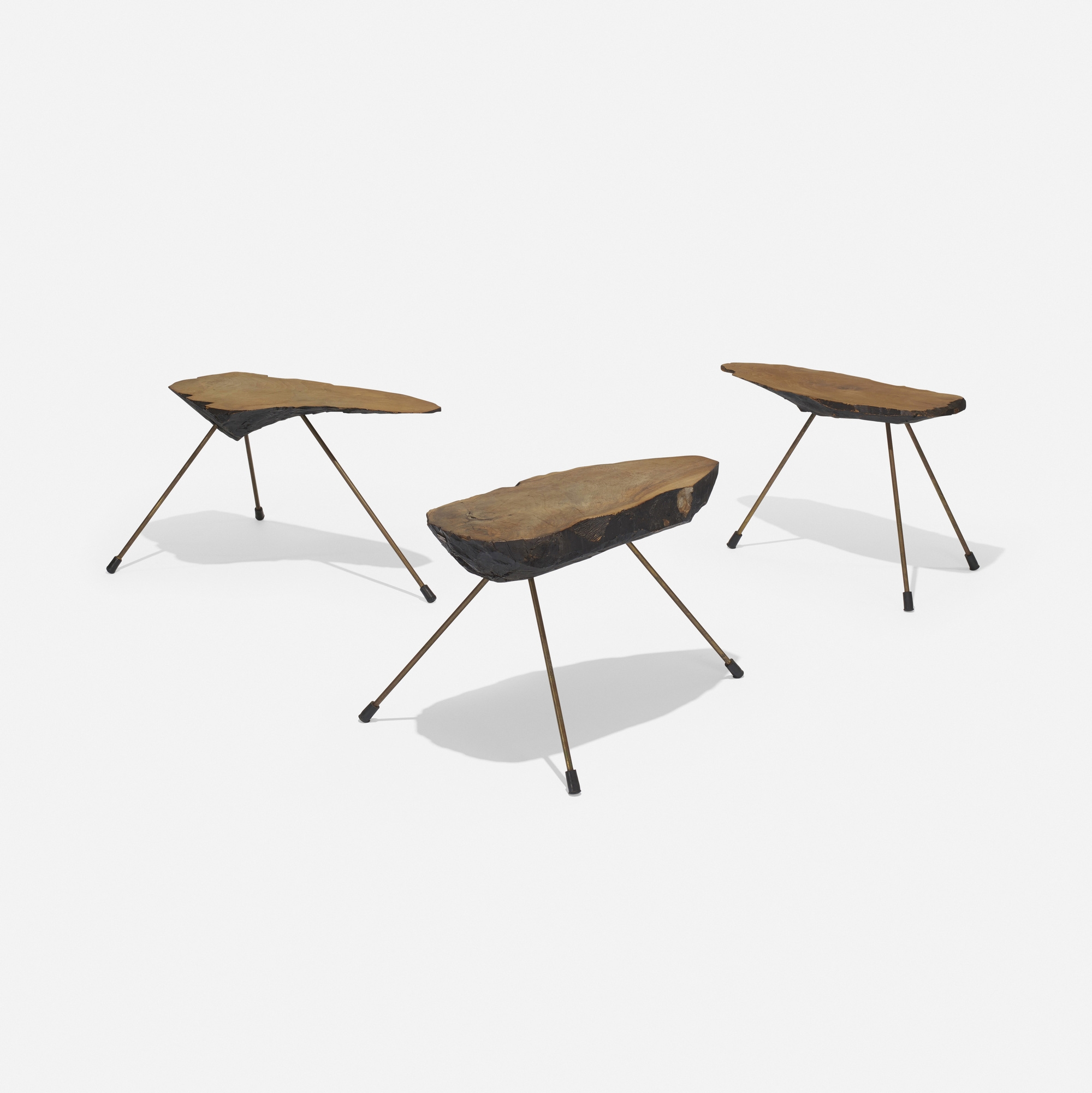 242: Carl Auböck II / occasional tables, set of three (1 of 4)