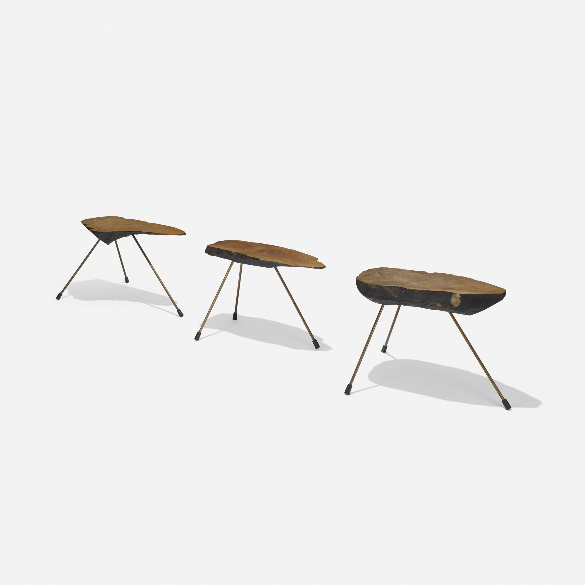 242: Carl Auböck II / occasional tables, set of three (2 of 4)