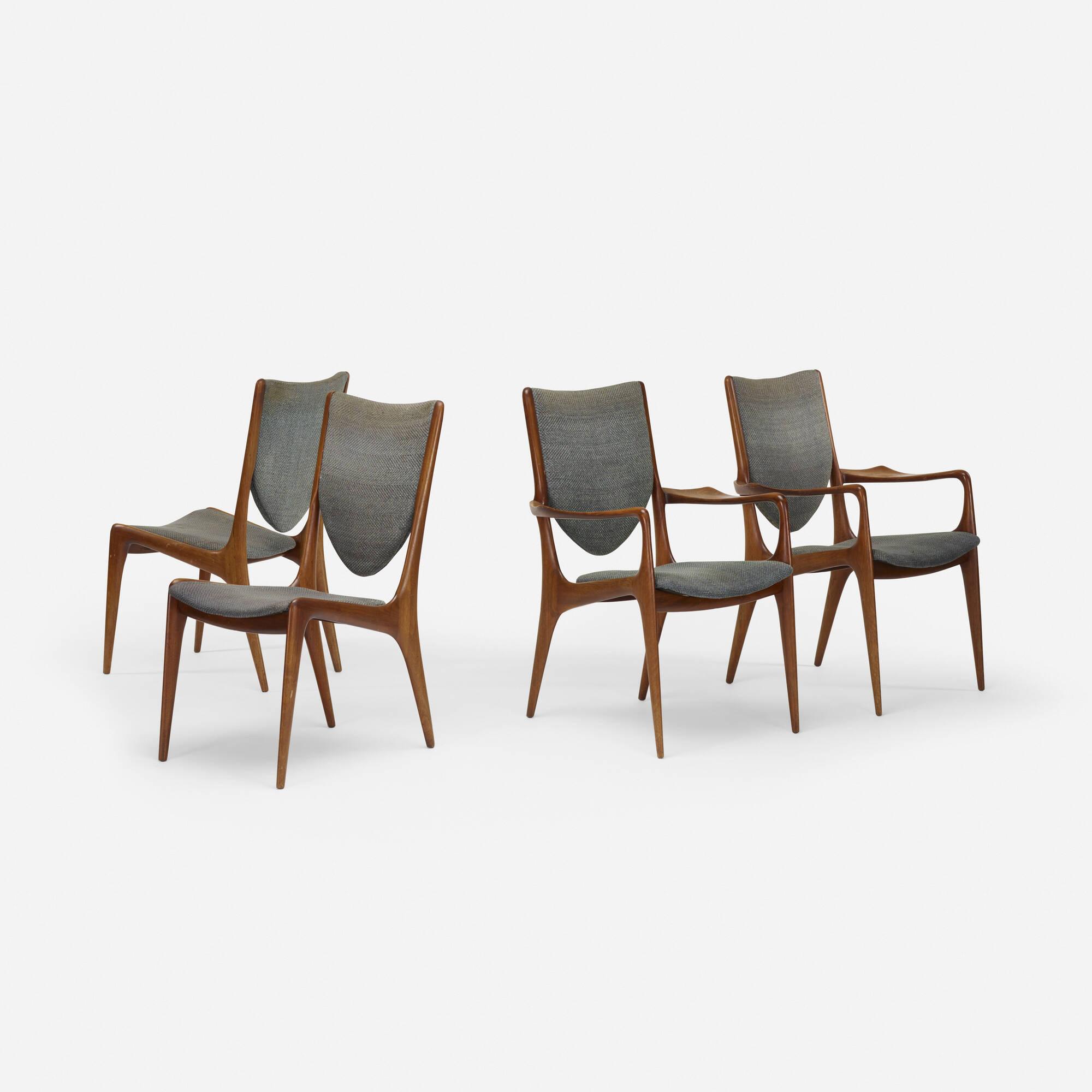 243 Vladimir Kagan Shield Back Dining Chairs Set Of Four 2
