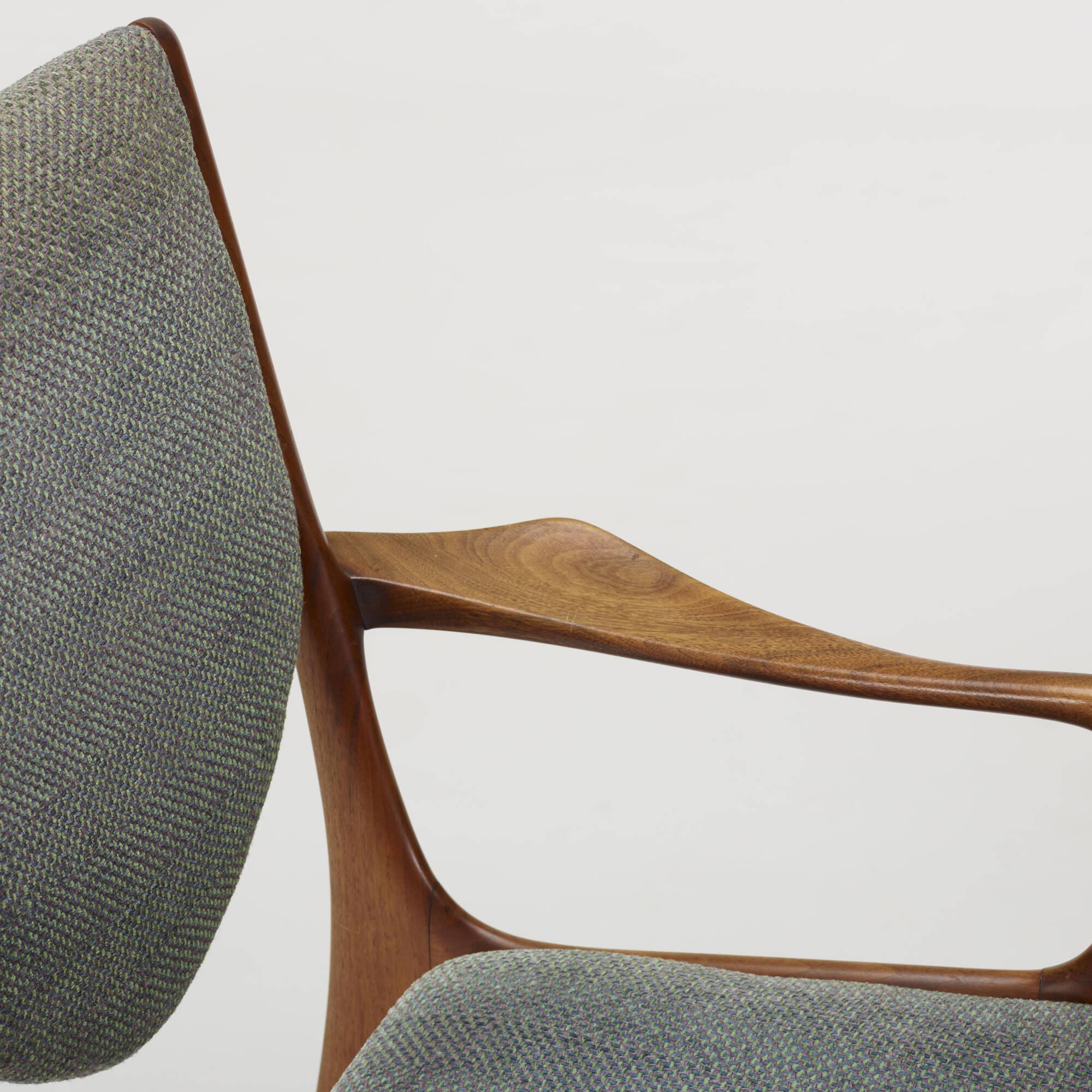 243 Vladimir Kagan Shield Back Dining Chairs Set Of Four 3