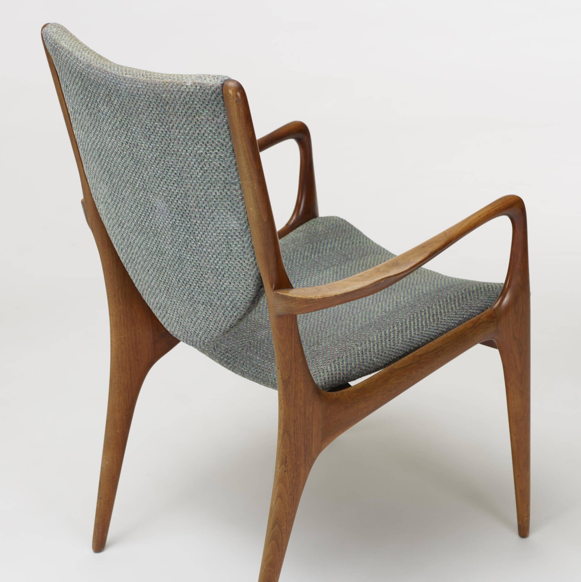 243 Vladimir Kagan Shield Back Dining Chairs Set Of Four 4