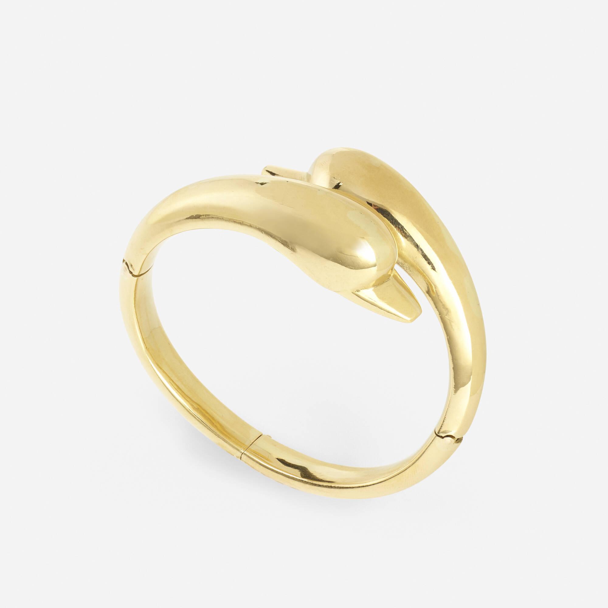 244: Lalaounis / A gold Swan bracelet (1 of 2)