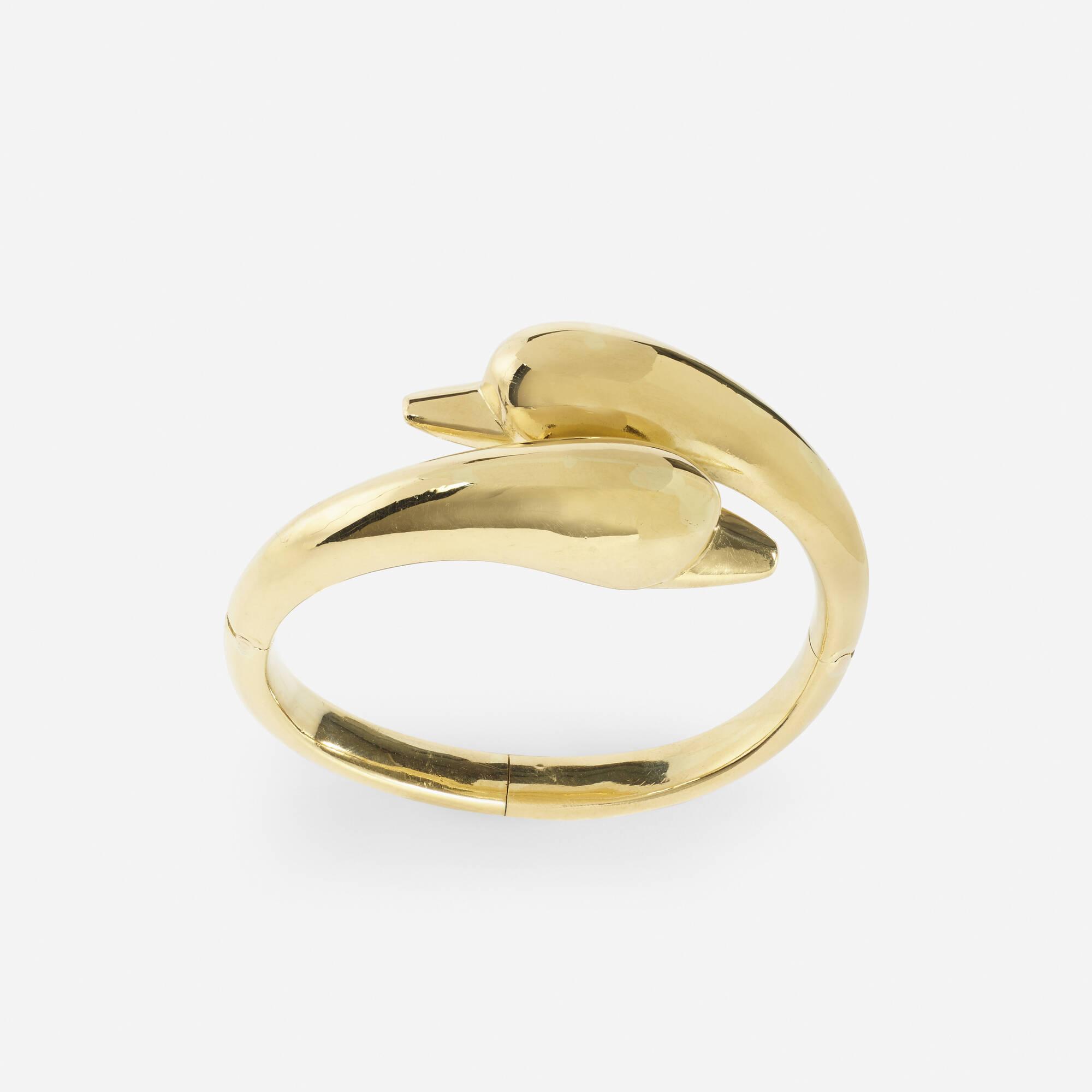 244: Lalaounis / A gold Swan bracelet (2 of 2)