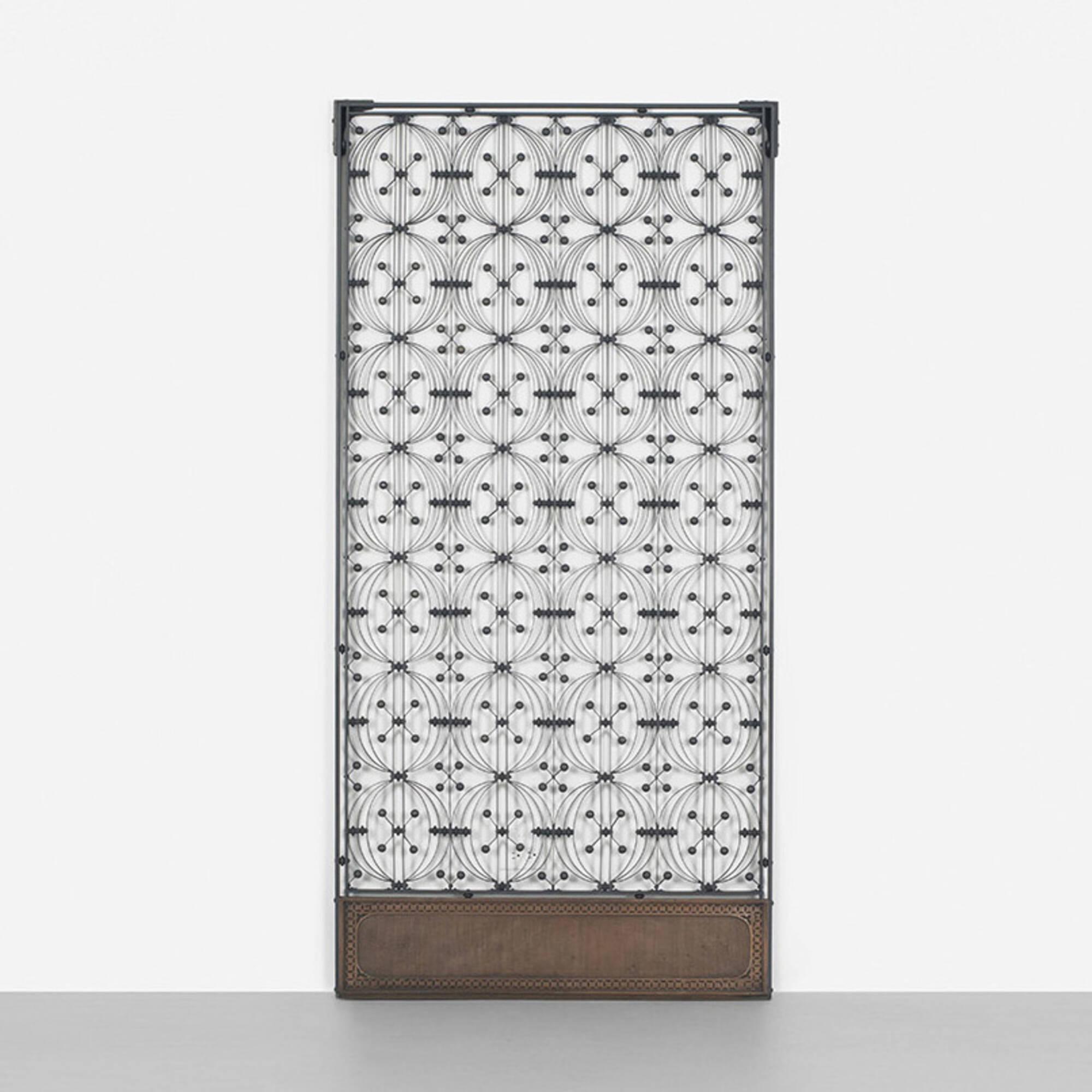 245: Dankmar Adler And Louis Sullivan / Elevator Door From The Chicago  Stock Exchange (