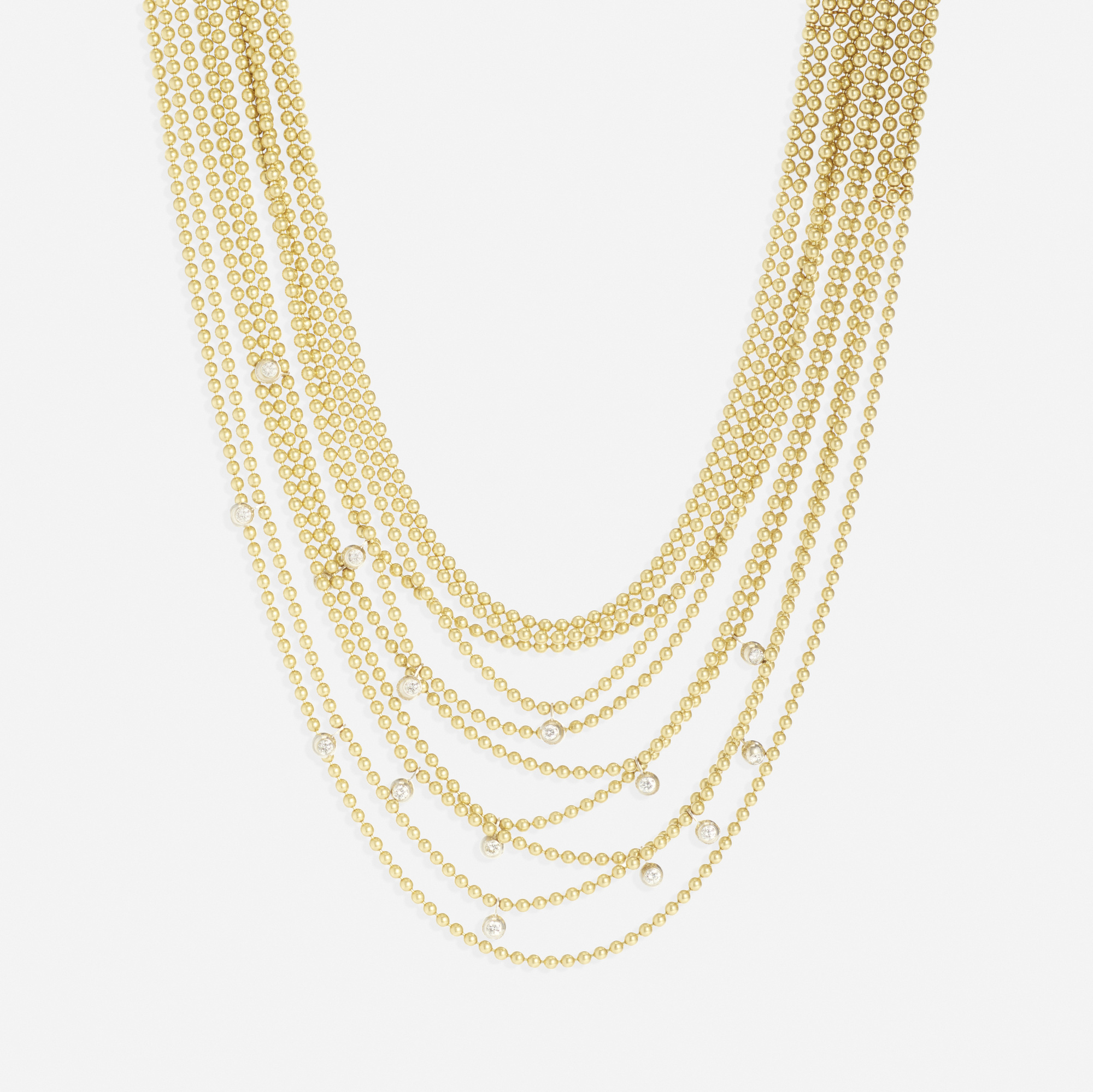 245: Cartier / A gold and diamond Draperie necklace (1 of 1)